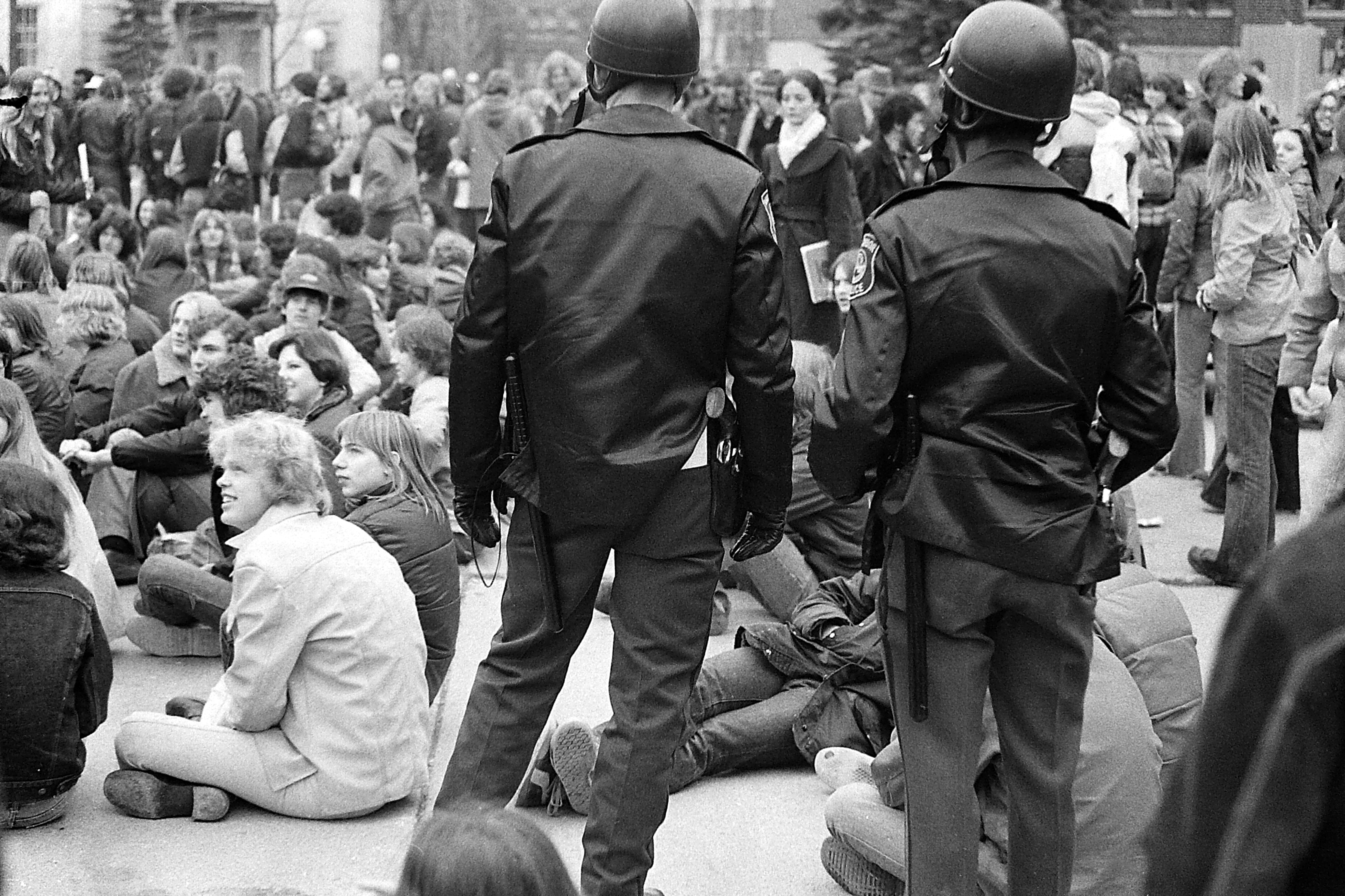 Hash Bash Crowd With Police, 1978 image