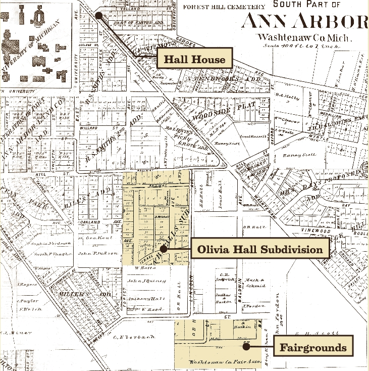 1895 Plat Map with Olivia Hall subdivision image