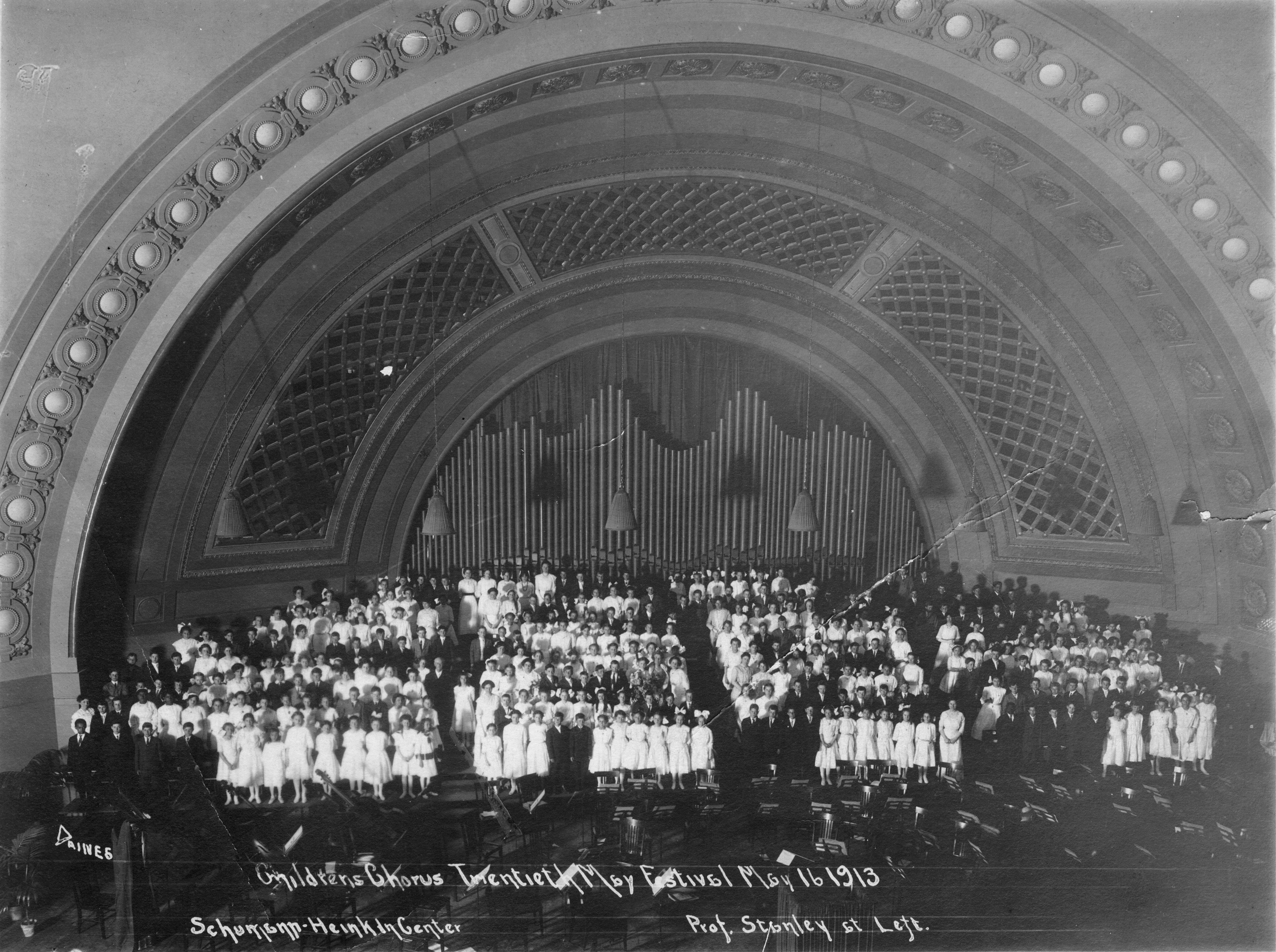 Youth Chorus Open May Festival in the new Hill Auditorium, 1913 image