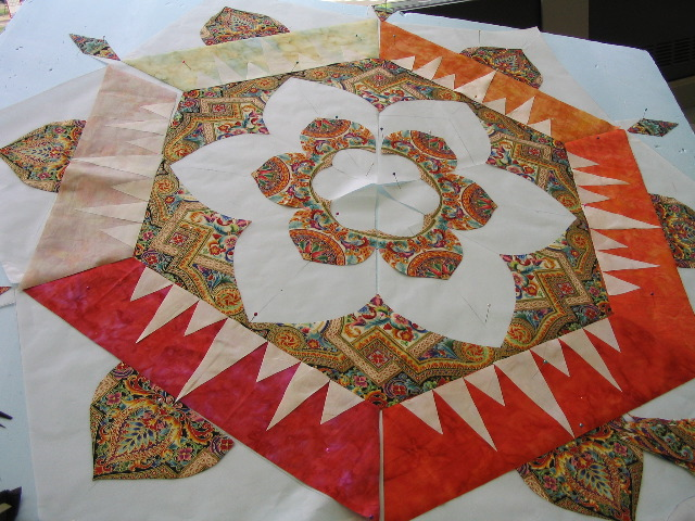Library Muse, (Mandala In Progress), by Paradigm Quilters, 2005 image