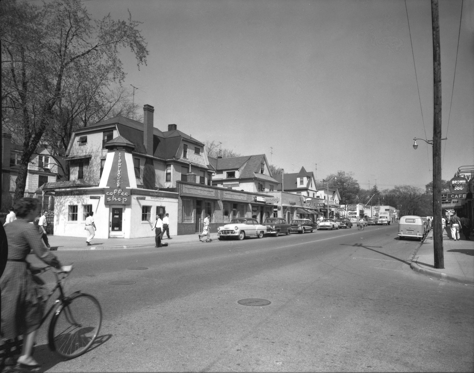 South University looking northeast from Church Street, ca. 1957 image