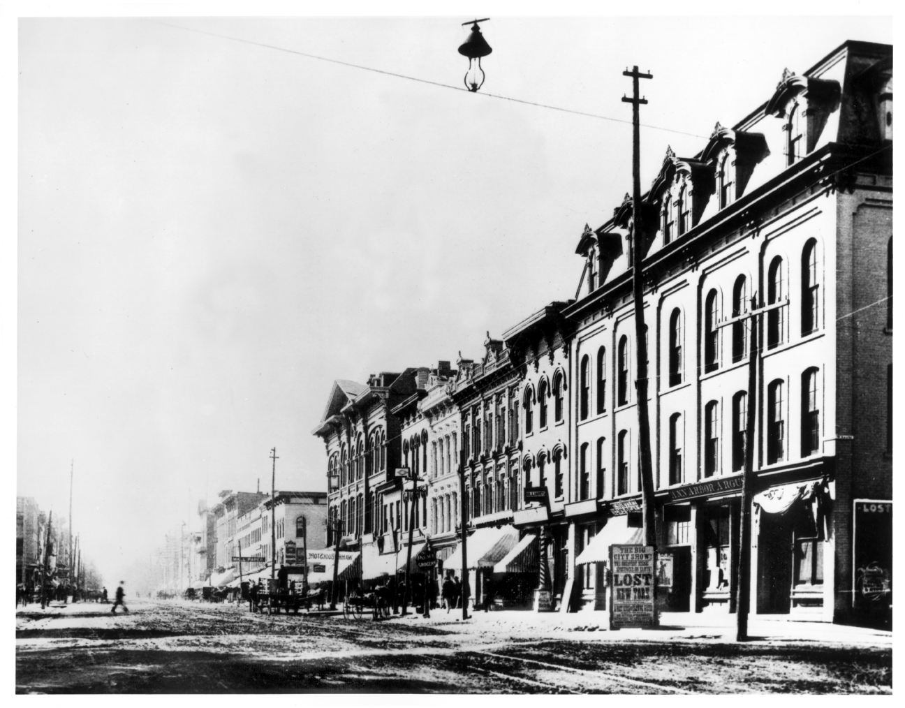 Main St. looking south from Ann St., ca. 1893. image