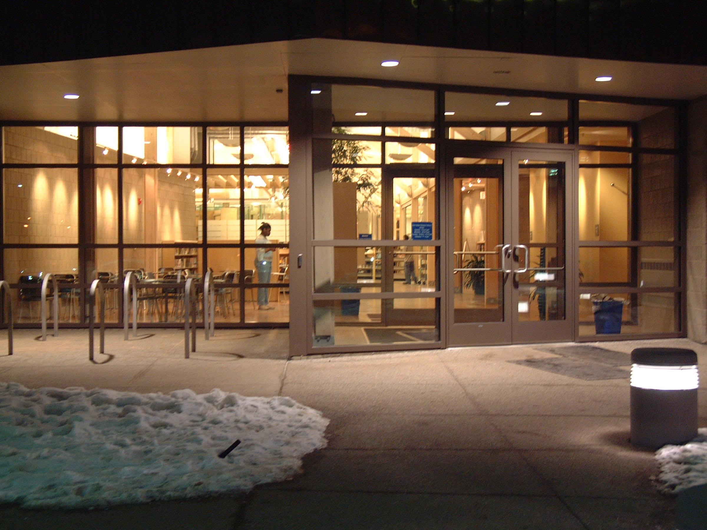 Malletts Creek Branch: Entrance at night, 2003 image