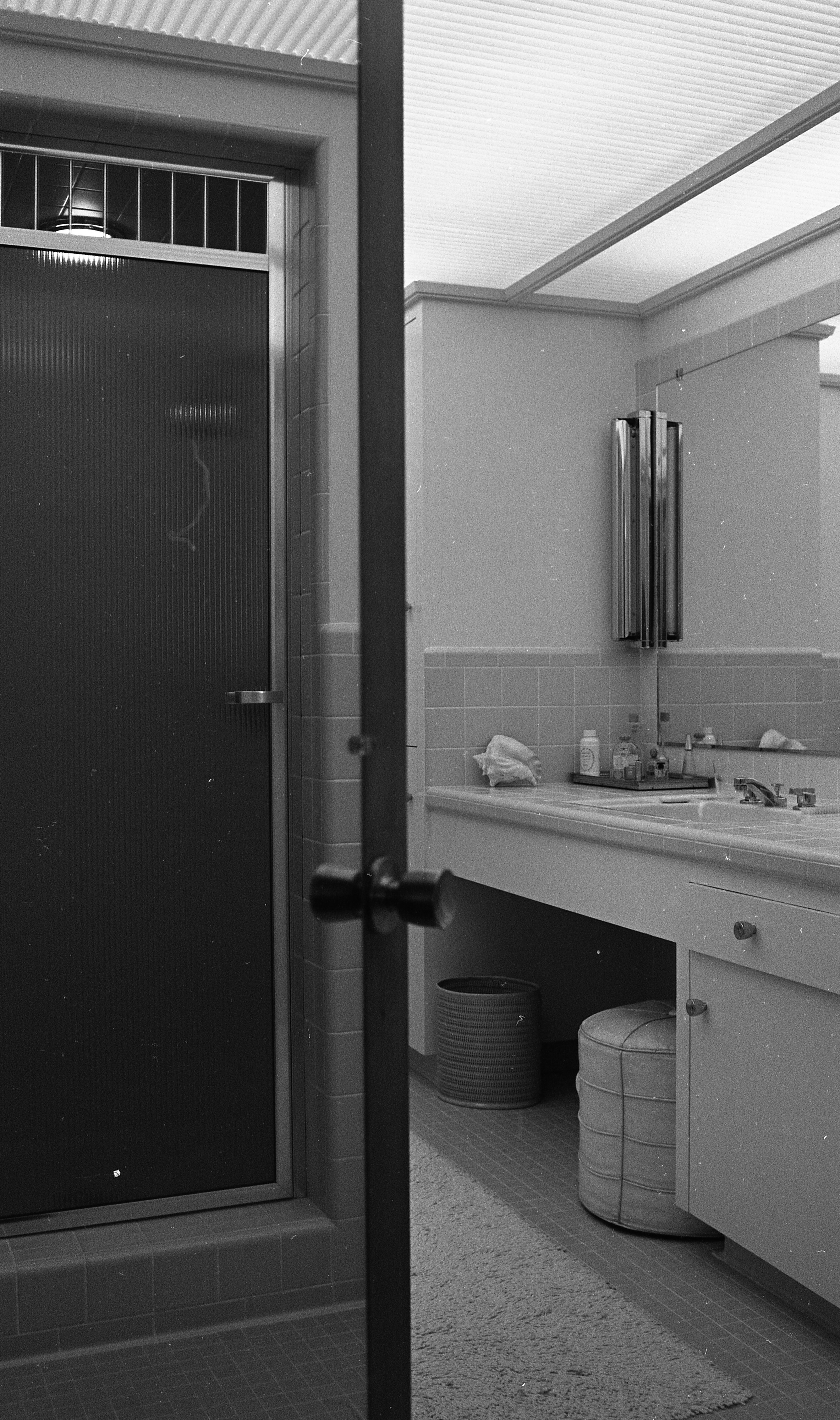 Bathroom of Clare and Carmen Schwegler Home on Londonderry Rd, August 1958 image