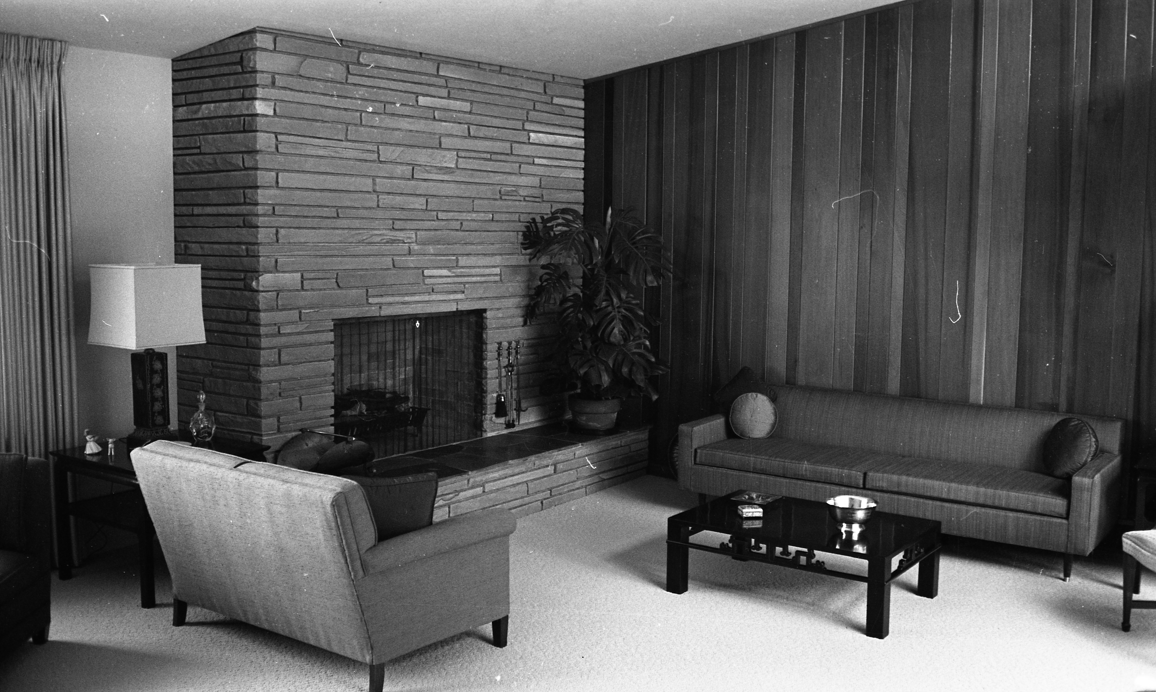Living Room of Clare and Carmen Schwegler Home on Londonderry Rd, August 1958 image