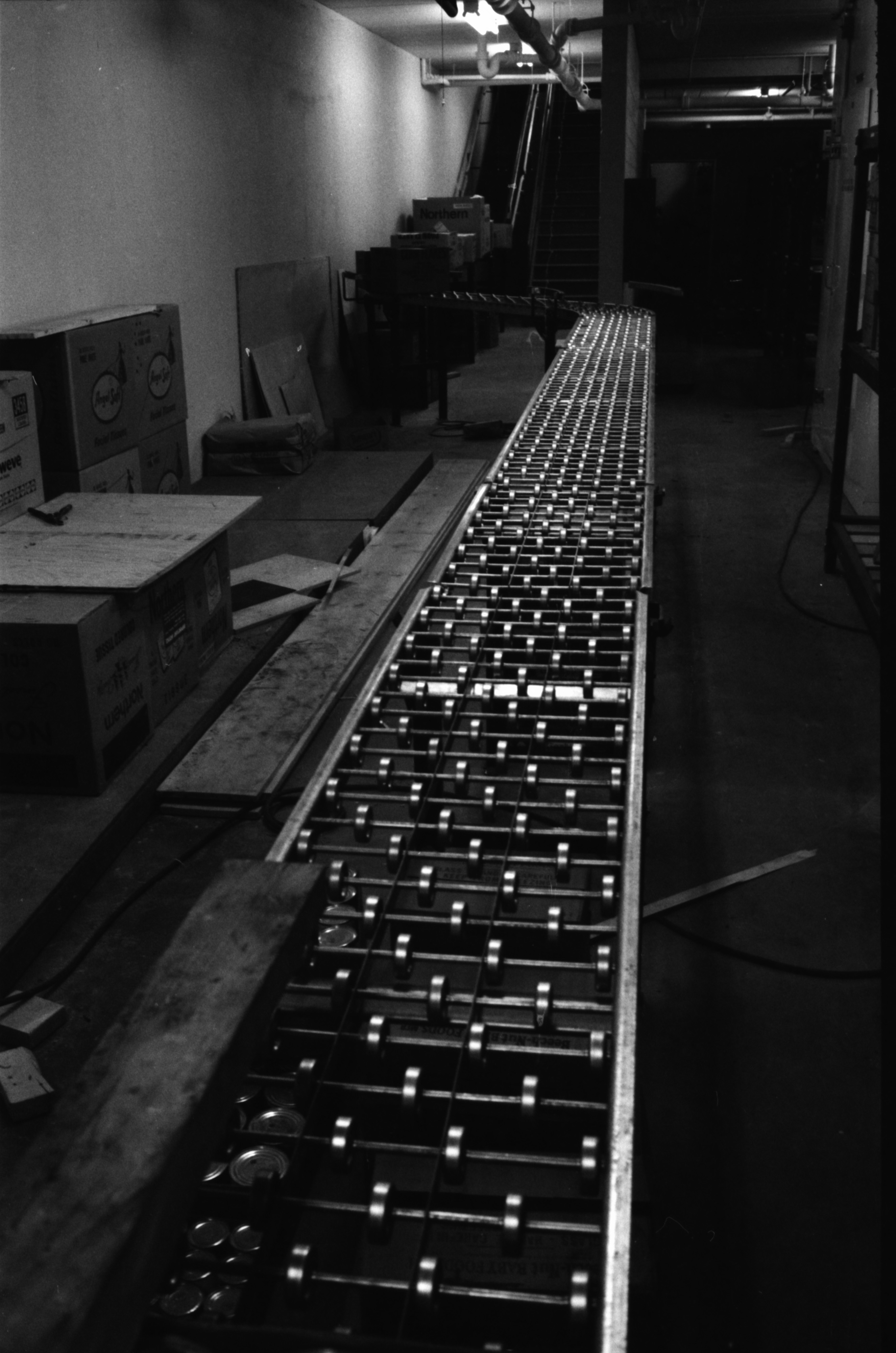 Conveyor Belt In Basement Of New A & P Supermarket, May 1959	 image