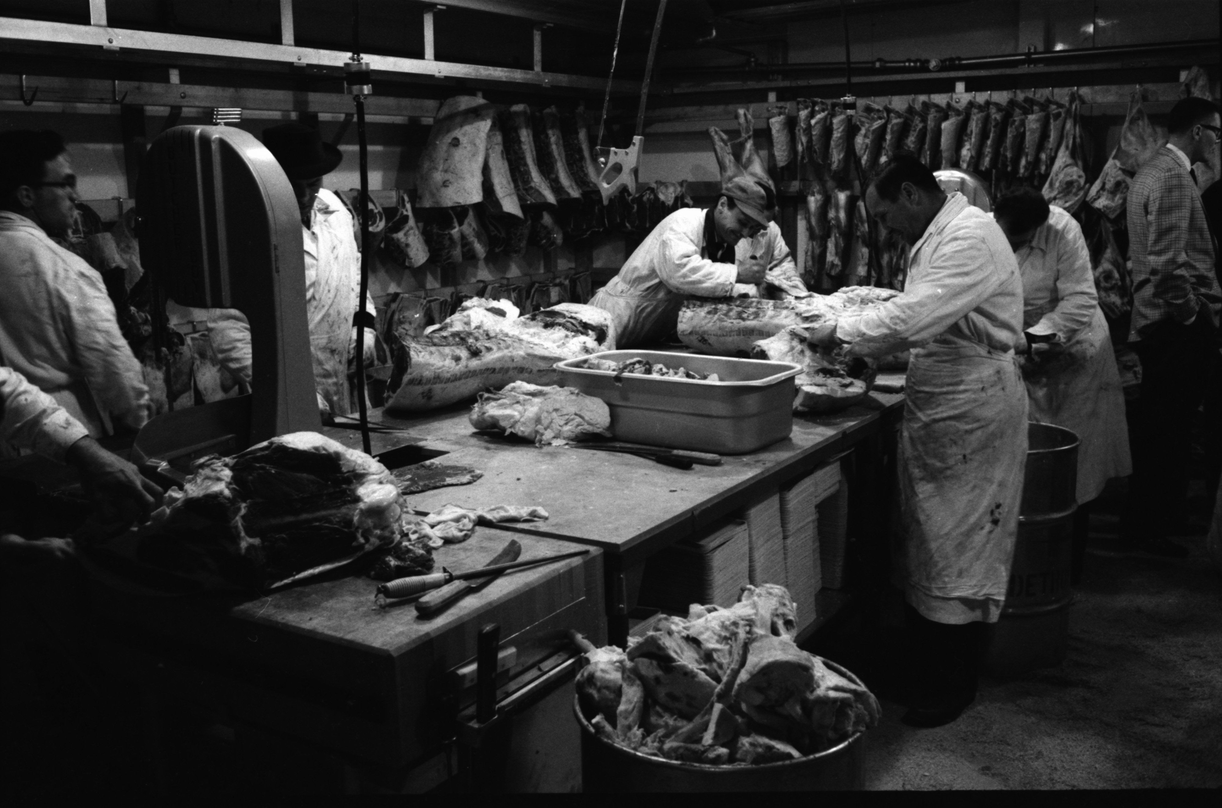 Meat Cutters At The New A & P Supermarket, May 1959 image