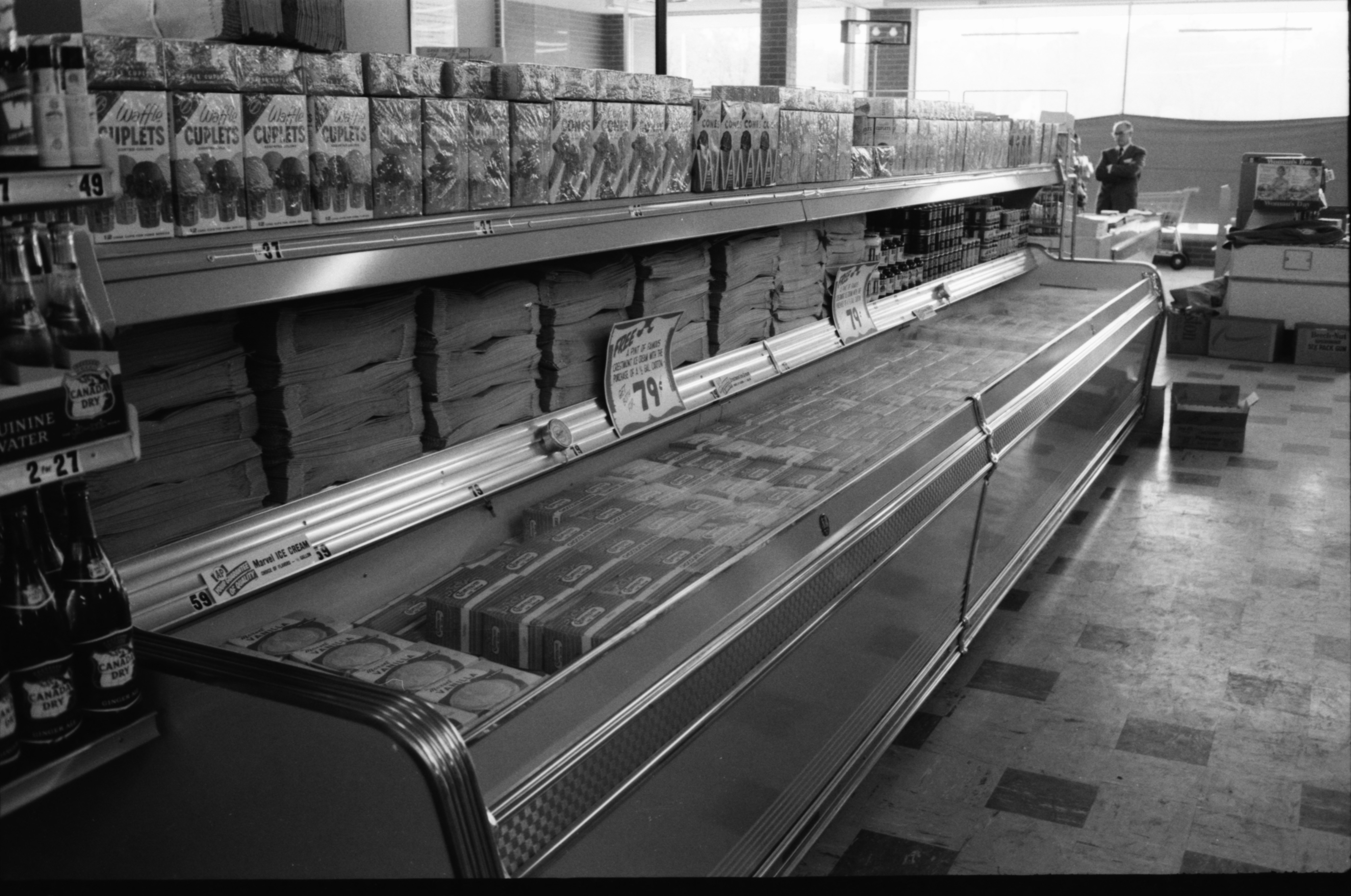 Refrigerated Cases In The New A & P Supermarket, May 1959 image