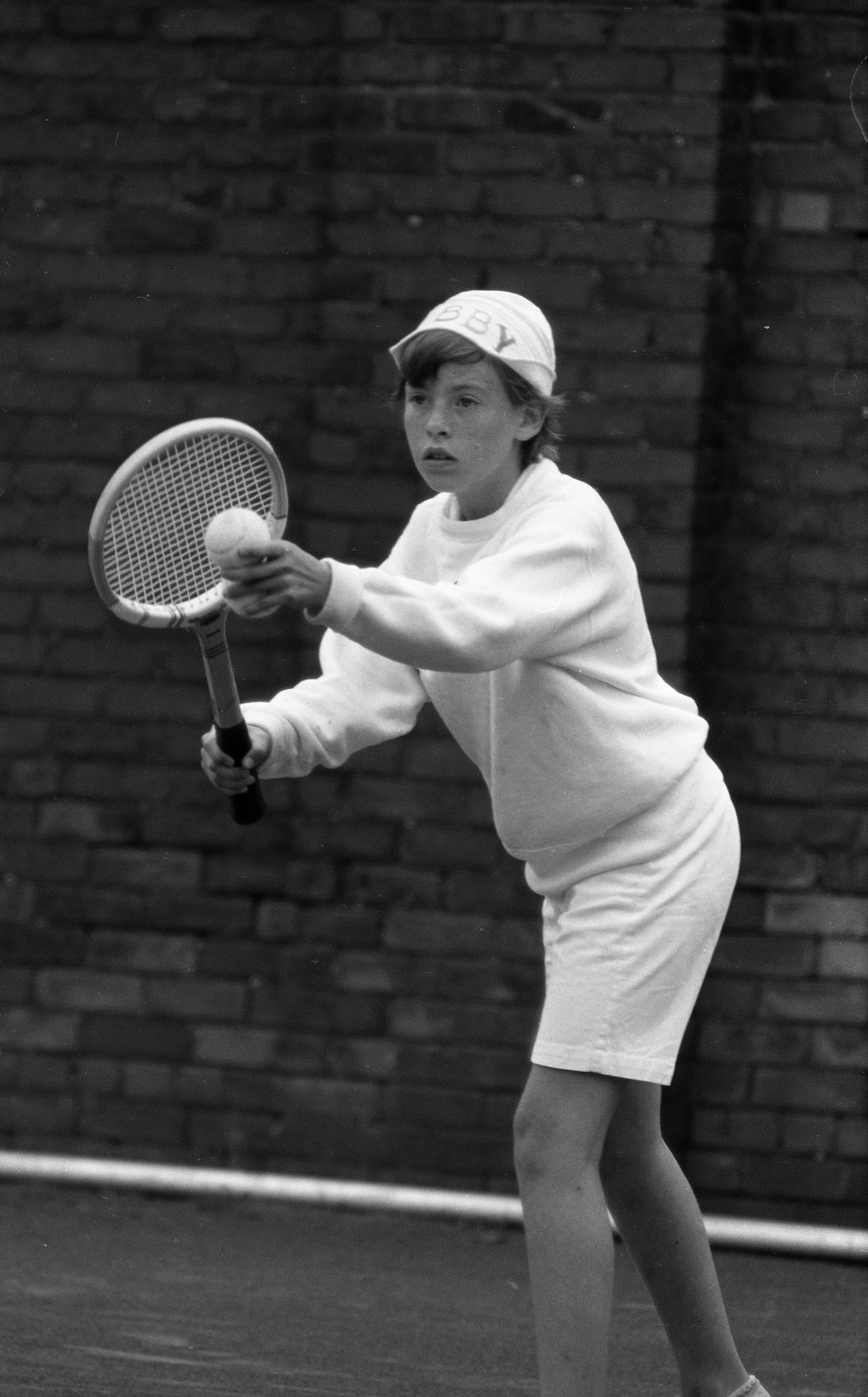 Barb Dixon Playing Tennis In The City Tennis Championships, June 1959 image
