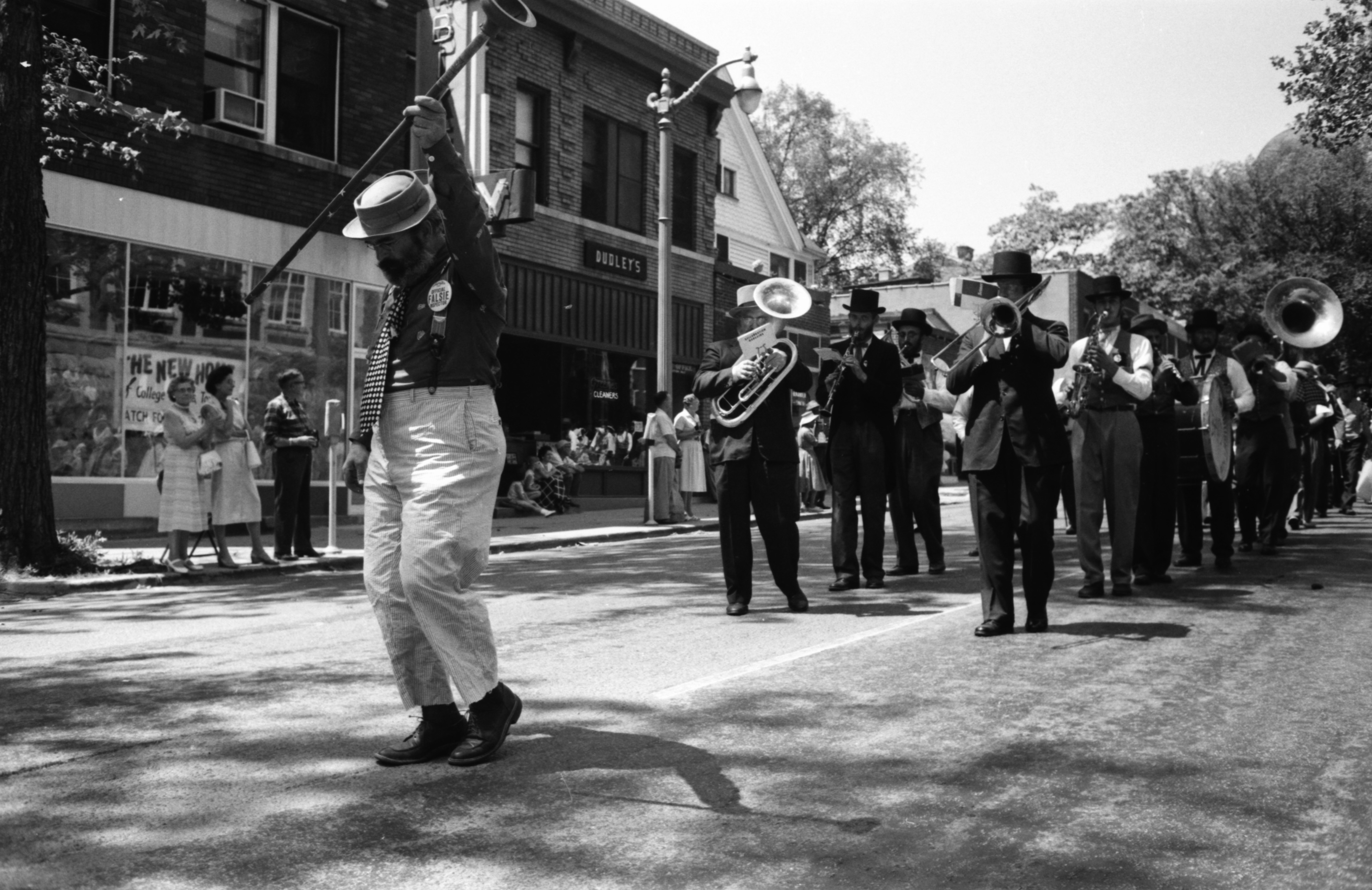 Marching Band In The Ypsilanti Fourth Of July Parade, July 1959 image