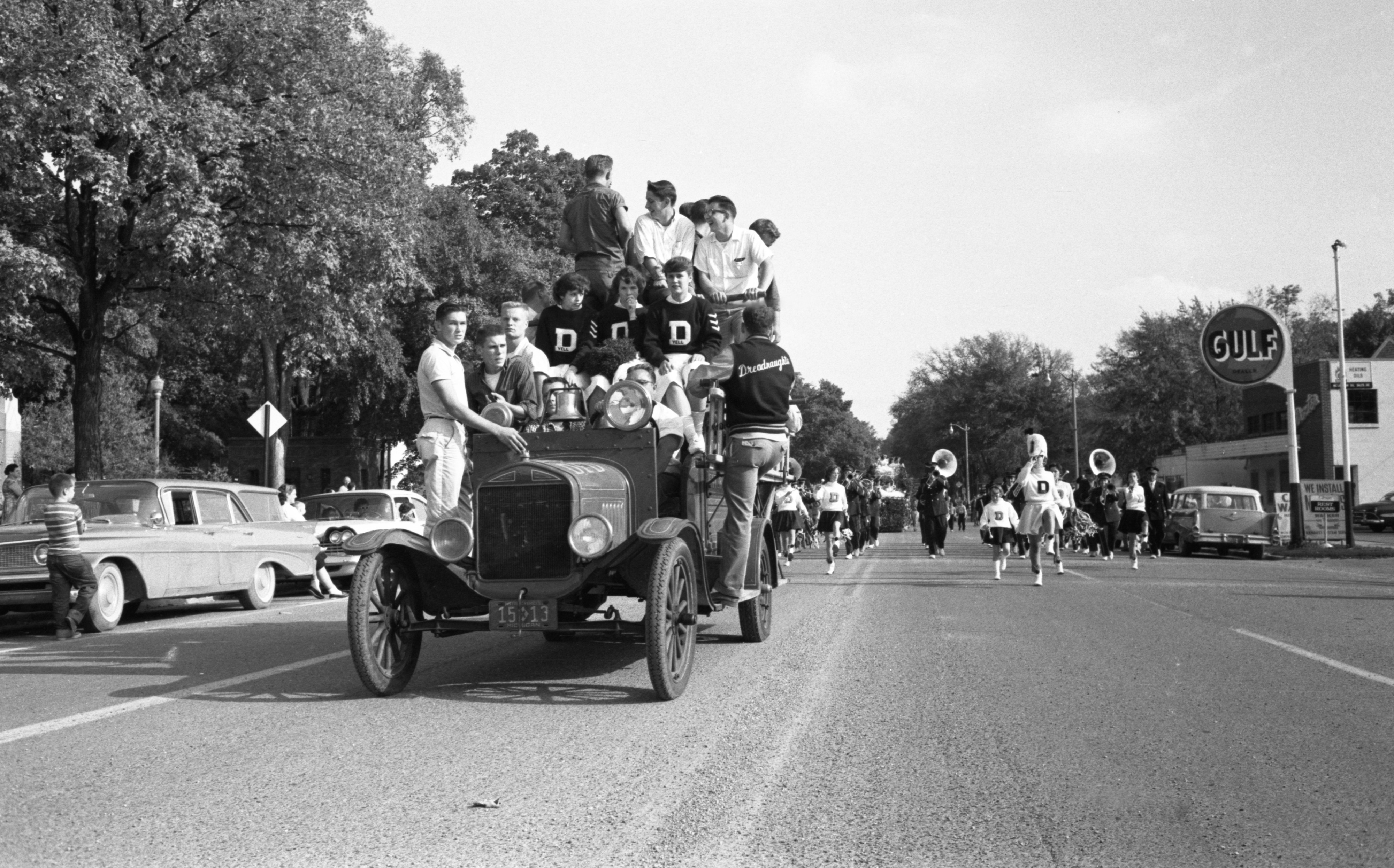 Dexter High School Homecoming Parade, October 1959 image