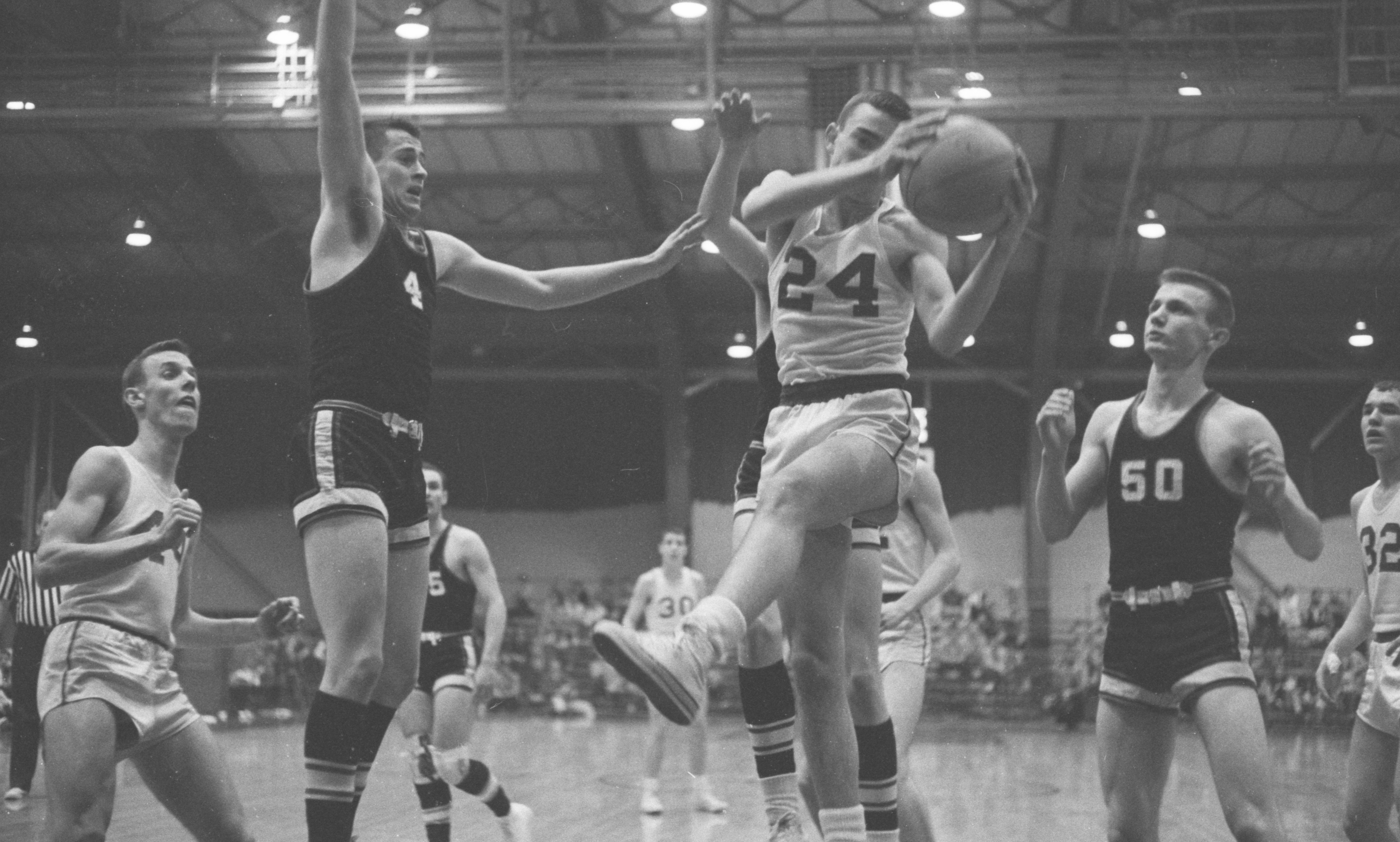 University High School Battles Addison In Regional Basketball Tournament, March 1960 image
