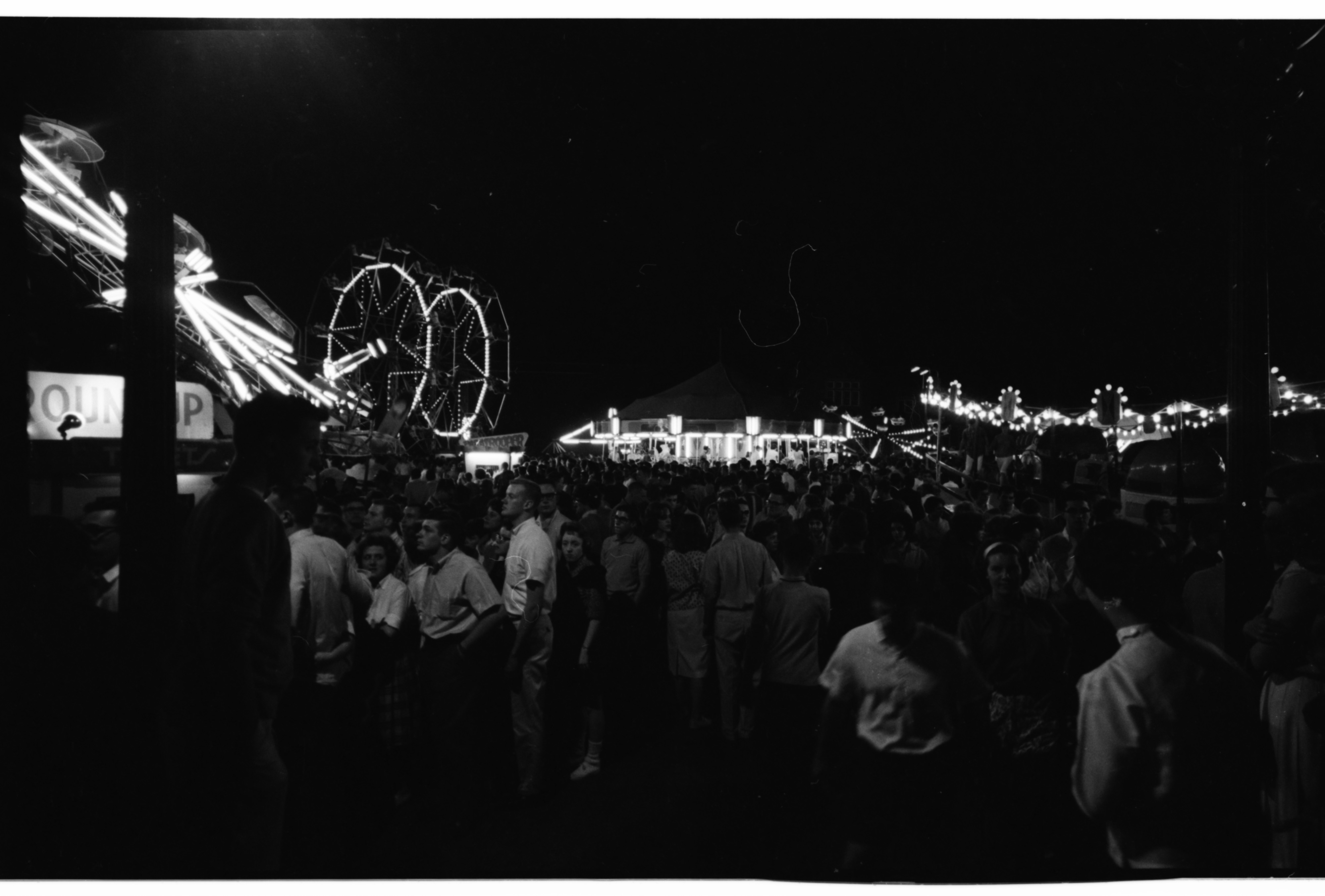 Michigras Carnival's Outdoor Midway near Yost Field House, April 1962 image