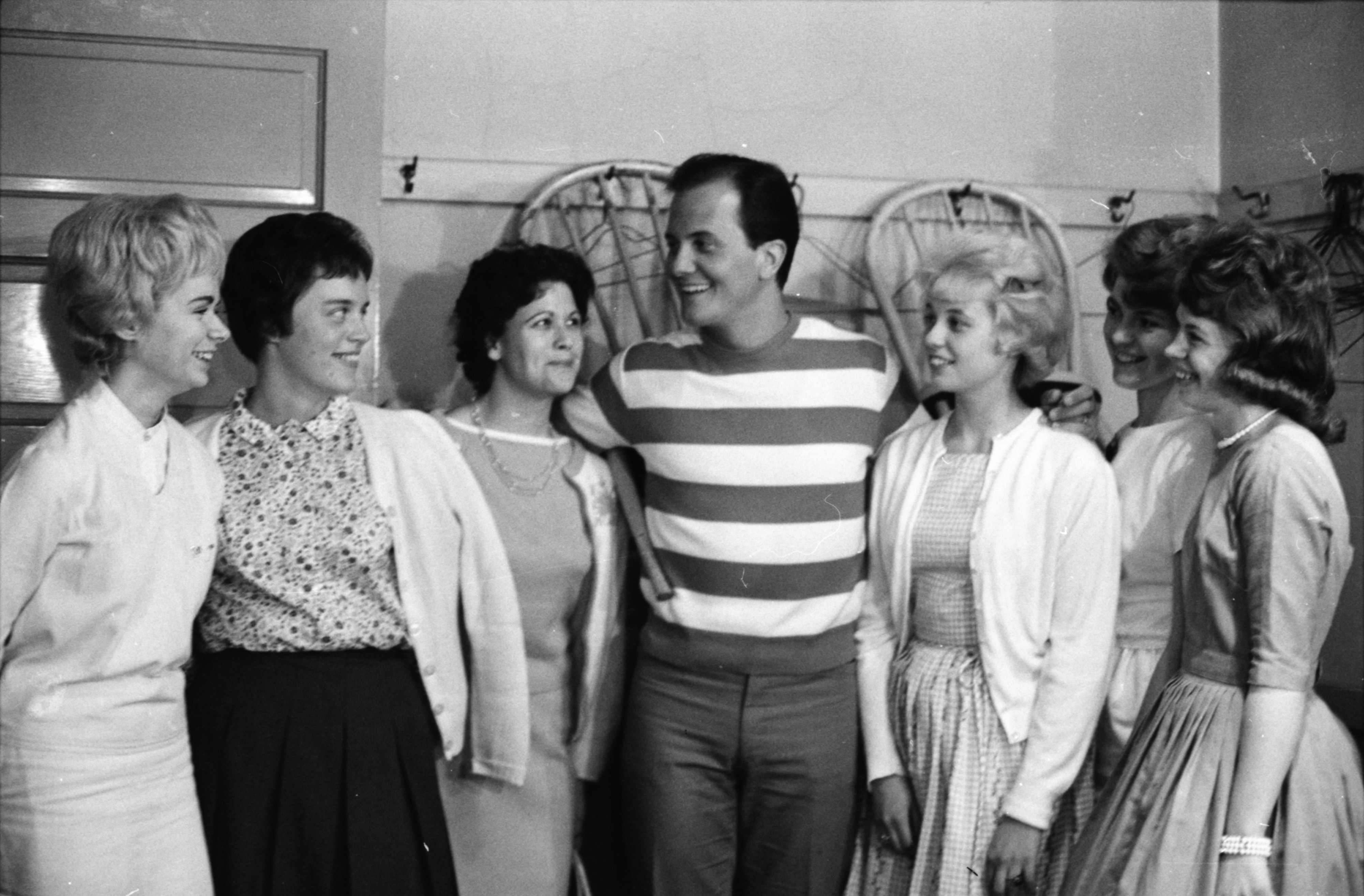 Pat Boone with local admirers, June 1963 image