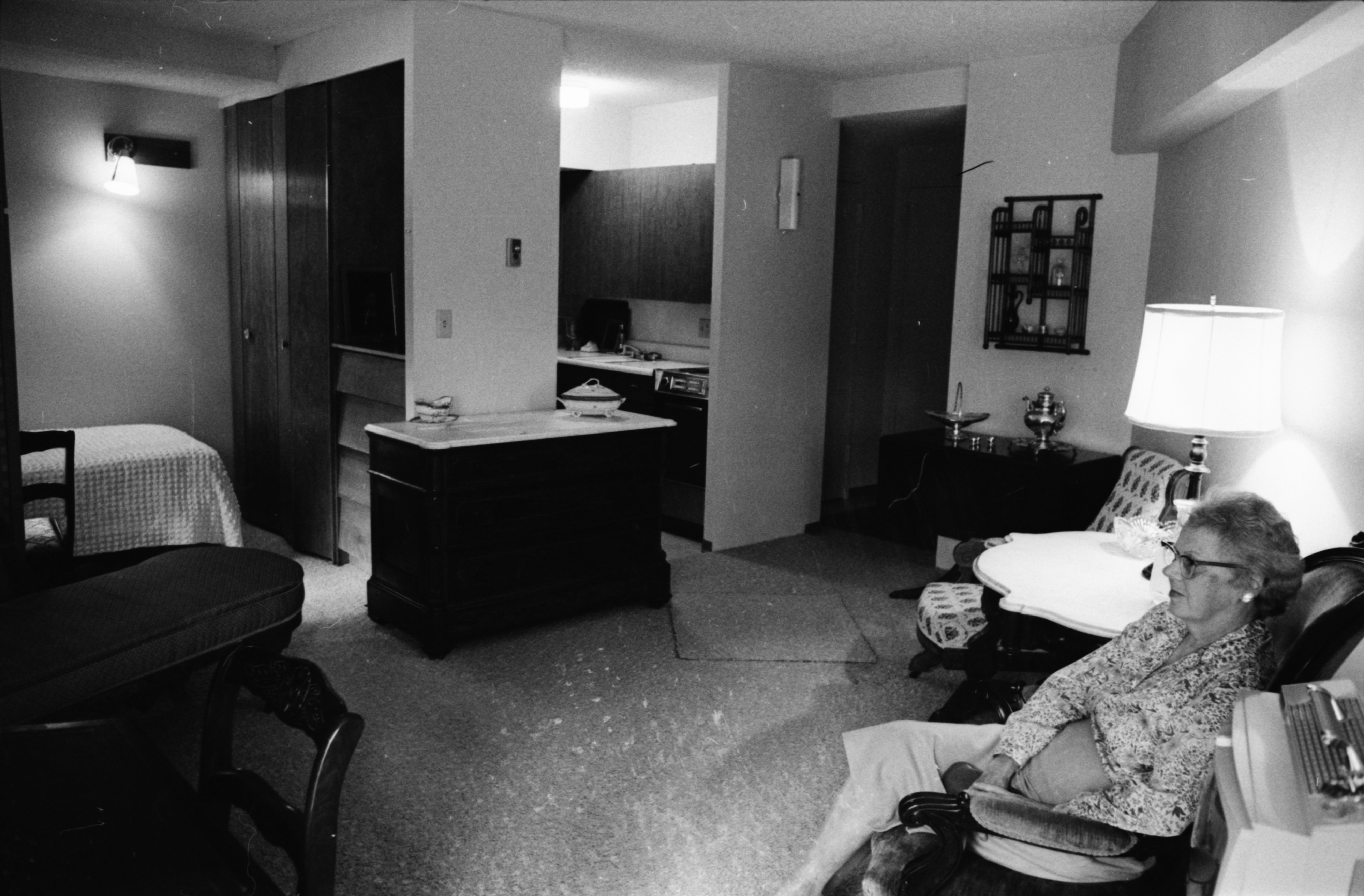 Interior apartment, Lurie Terrace, October 1964 image