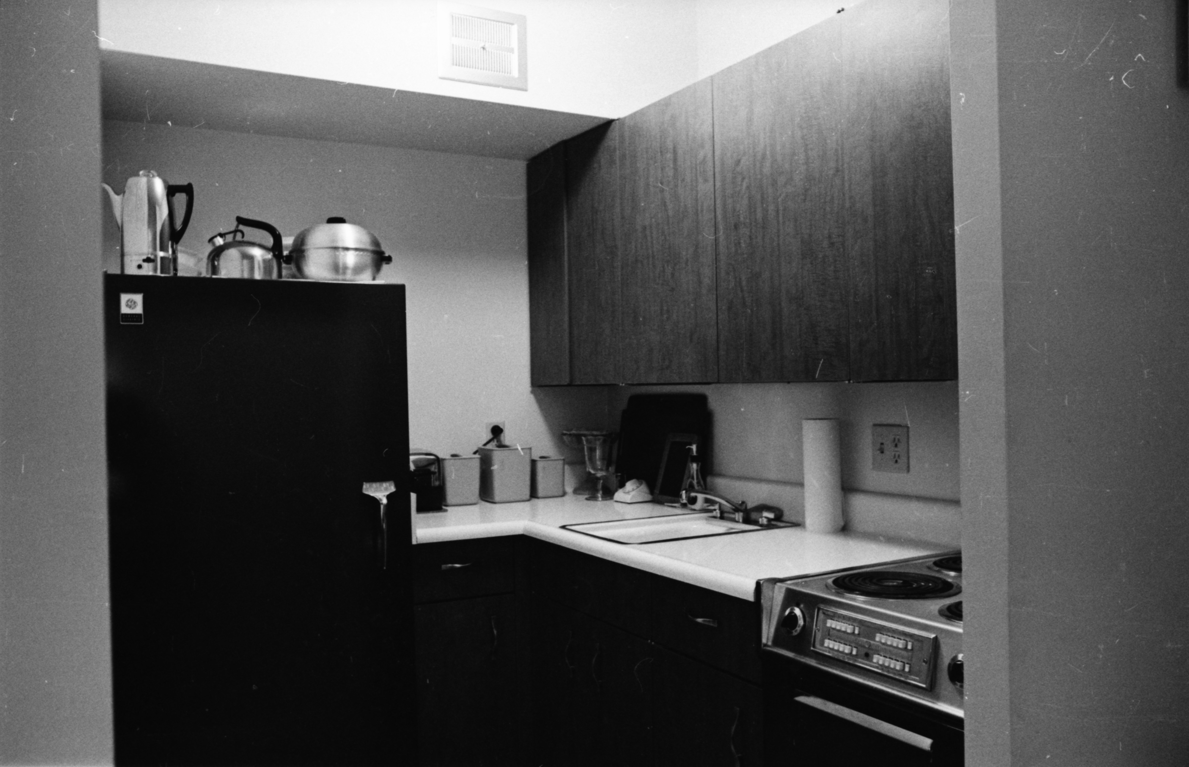 Kitchen Area, Lurie Terrace apartment, October 1964 image