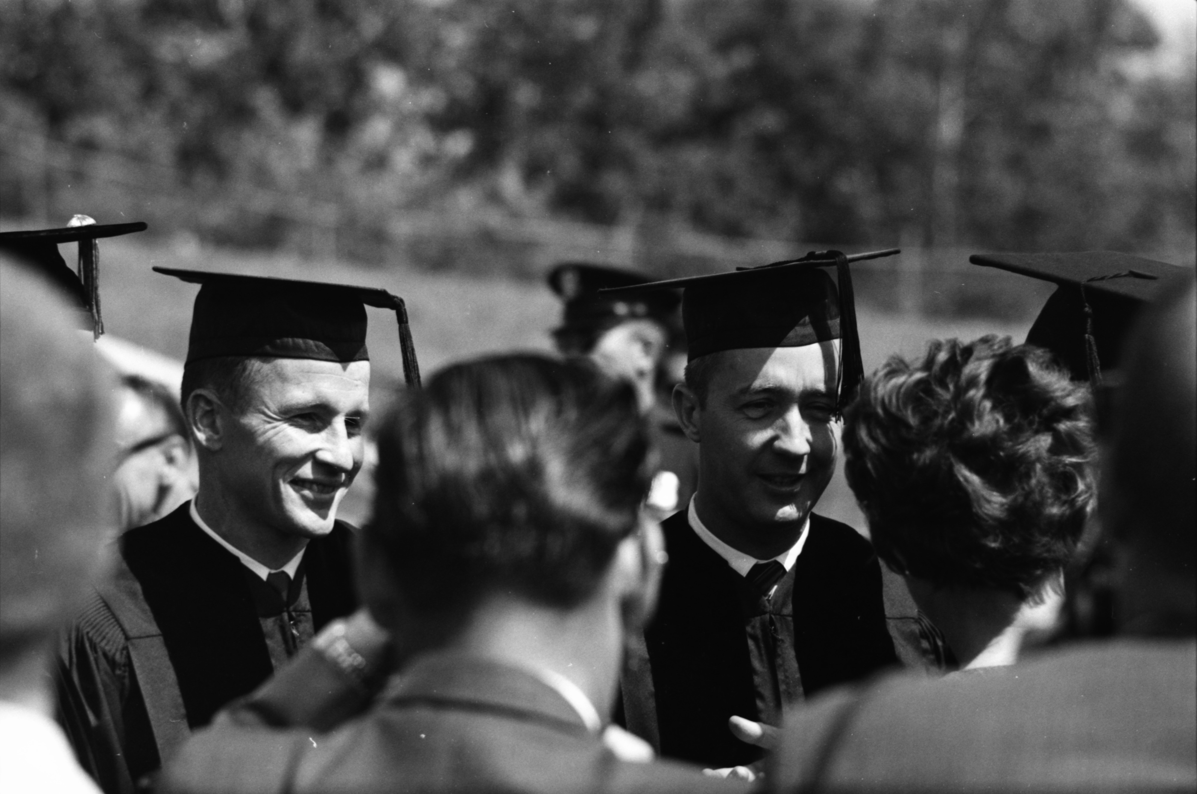 Astronauts James A. McDivitt and Edward H. White II Honored at Convocation, June 1965 image