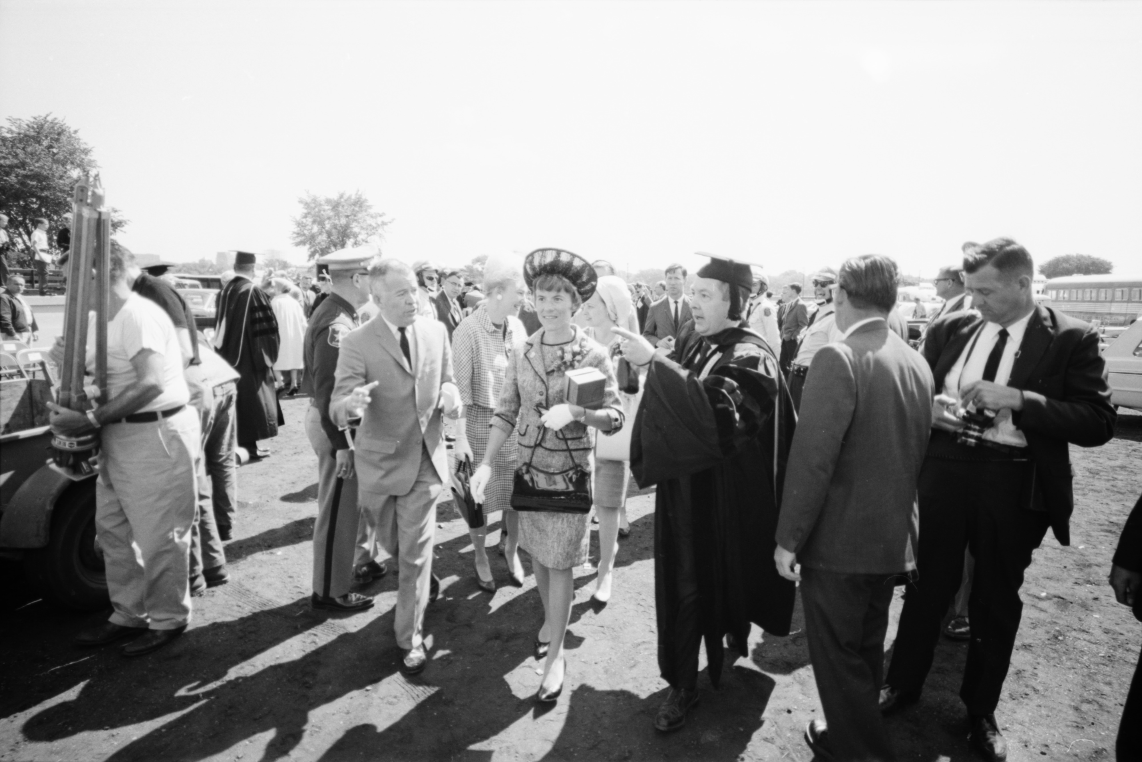 Astronauts' Wives Arriving at Convocation image