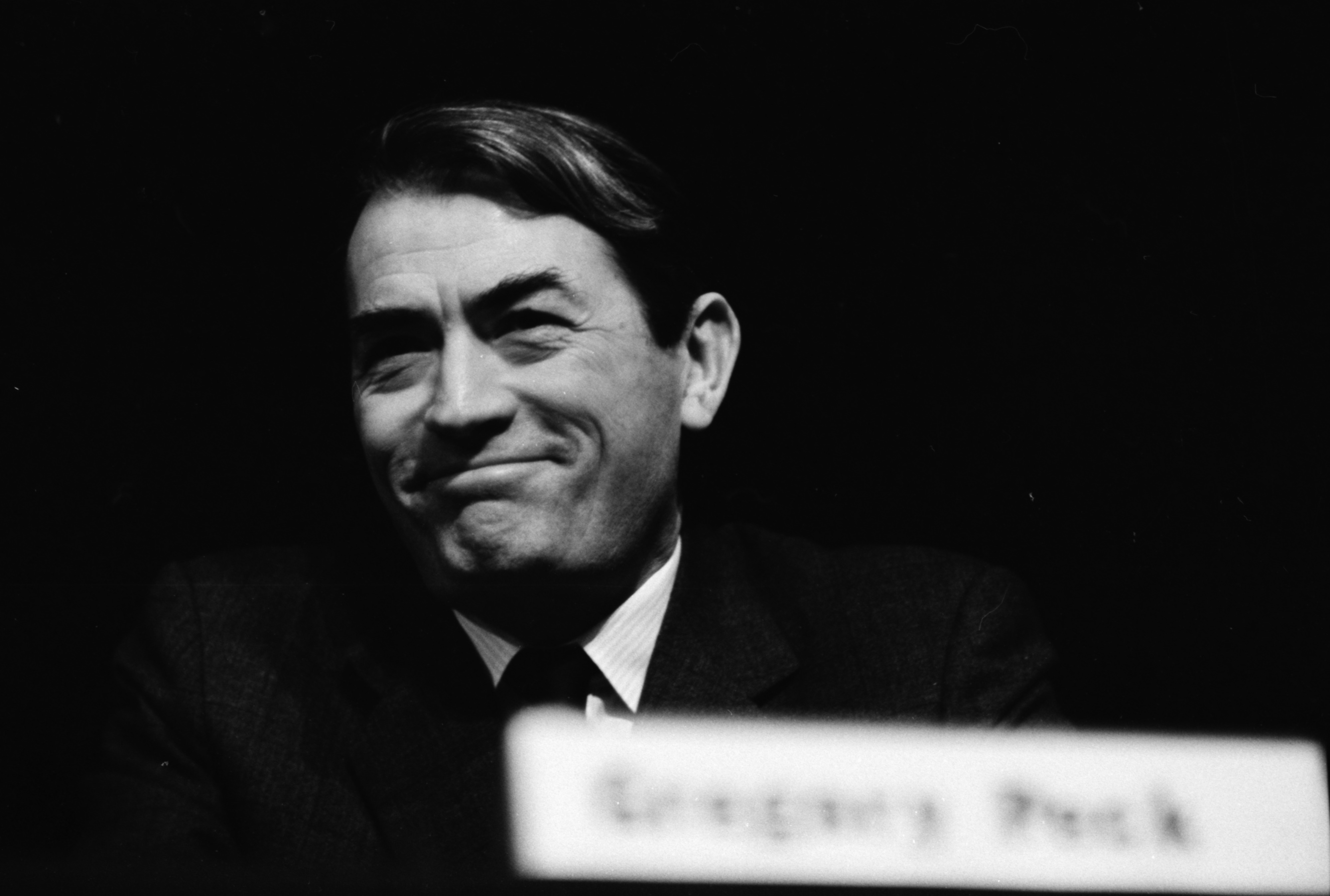 Gregory Peck at the conference on National Council on the Arts image