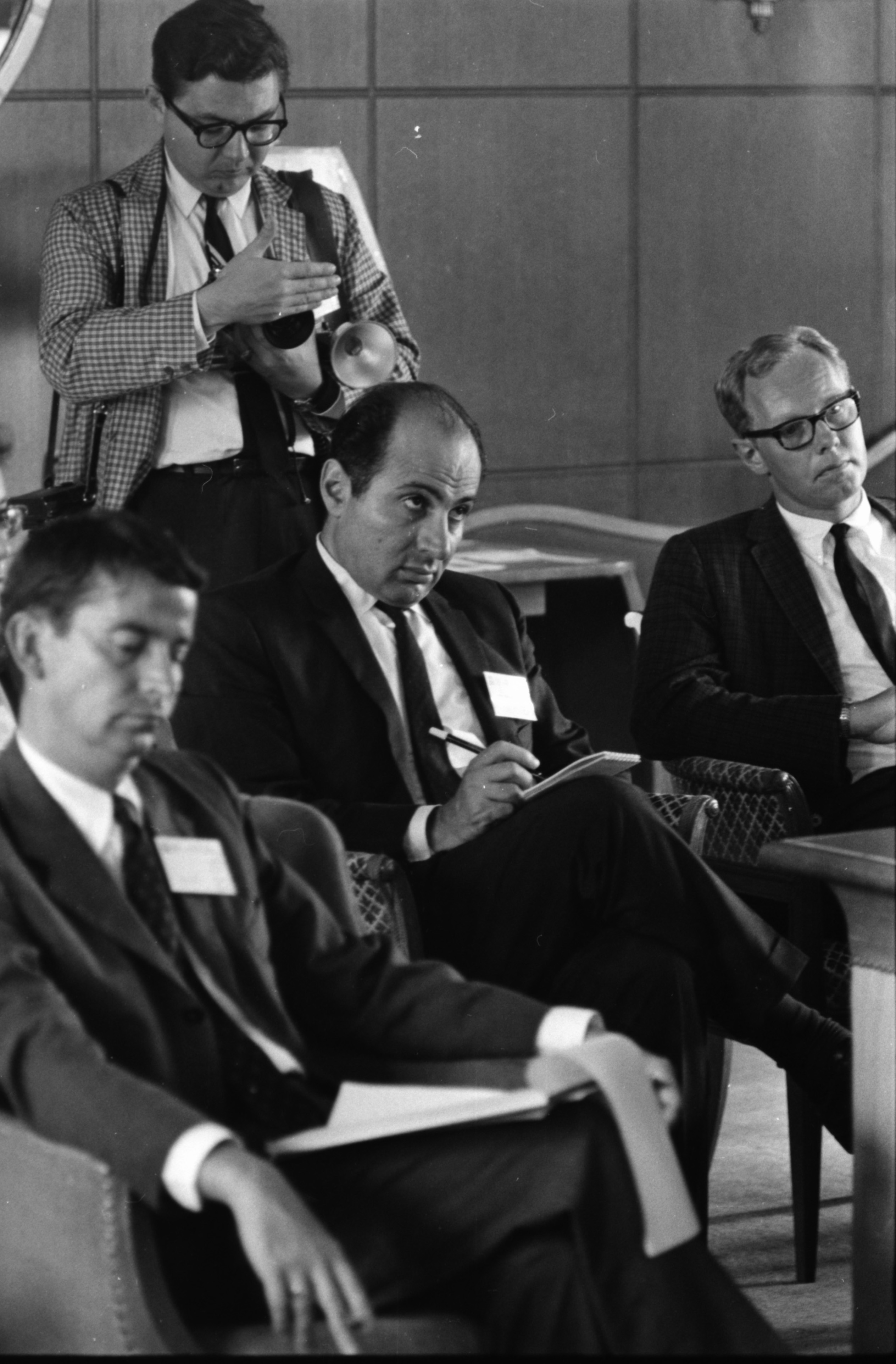 Reporter From Soviet Union's Tass News Service, Vahan Mkrtchian, At International Conference of Orientalists At UM, August 16, 1967 image