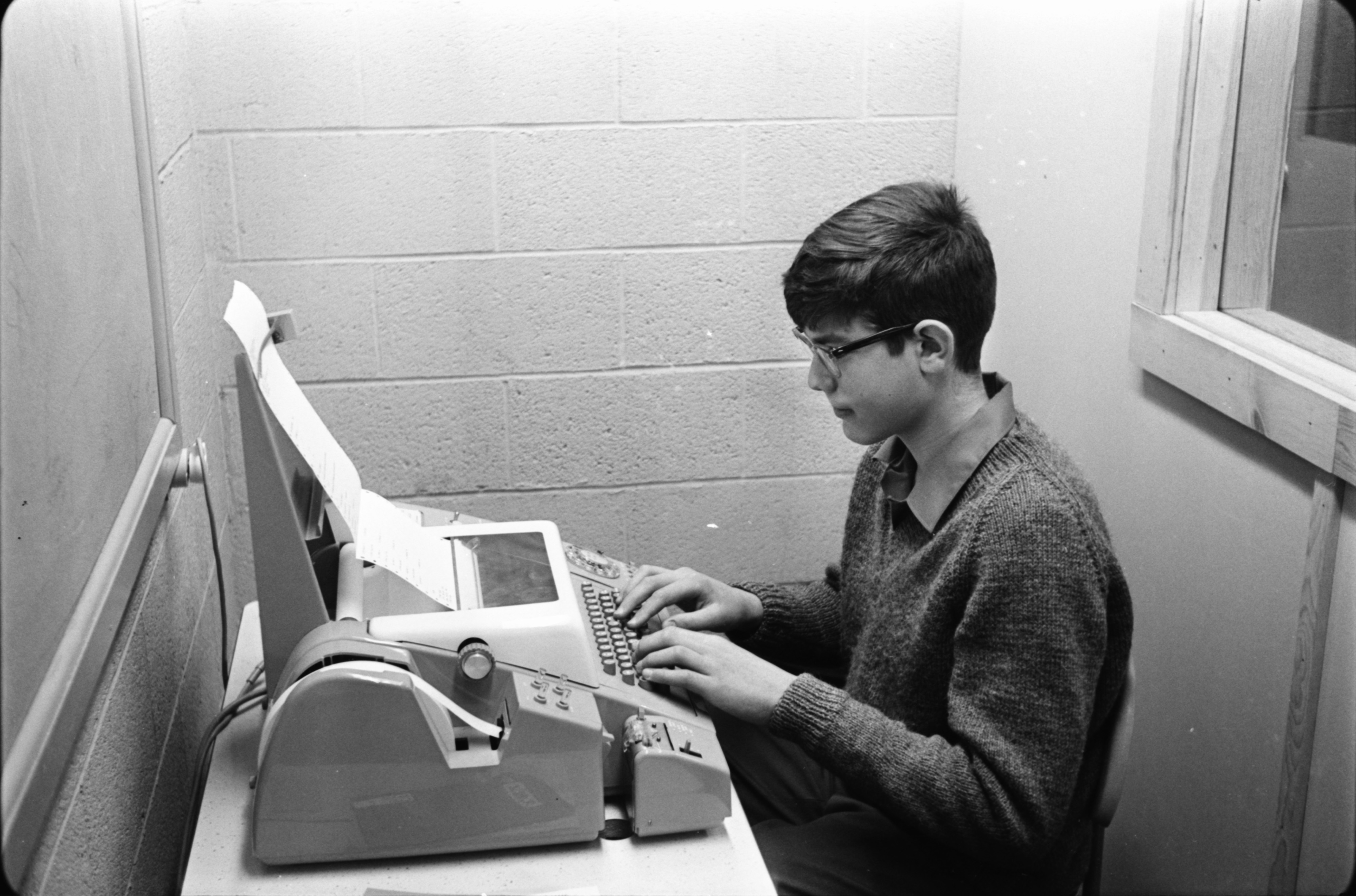Computer Math Course at Ann Arbor High School, October 1968 image