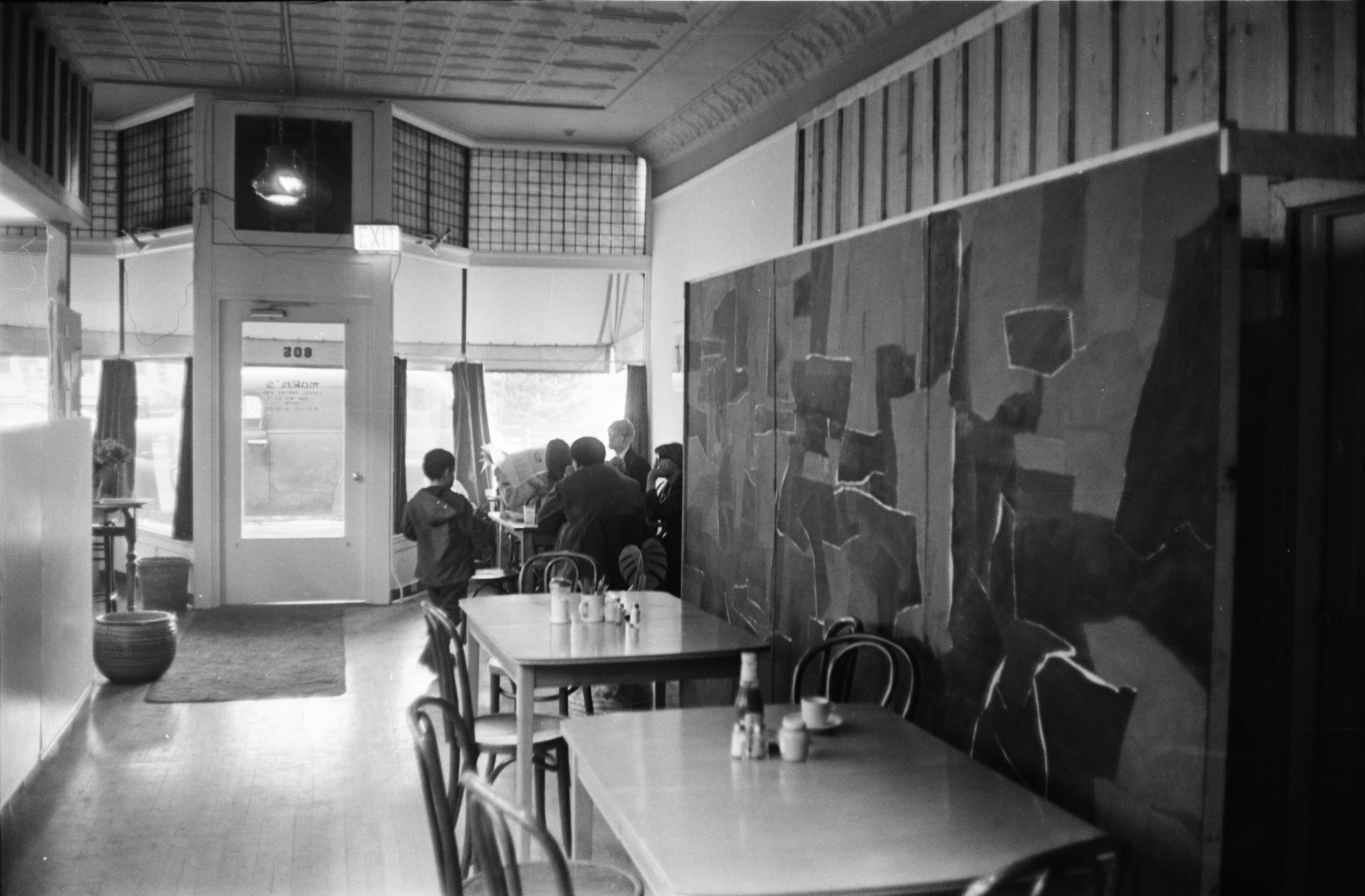 Mark's Coffee House, Interior, February 1968 image