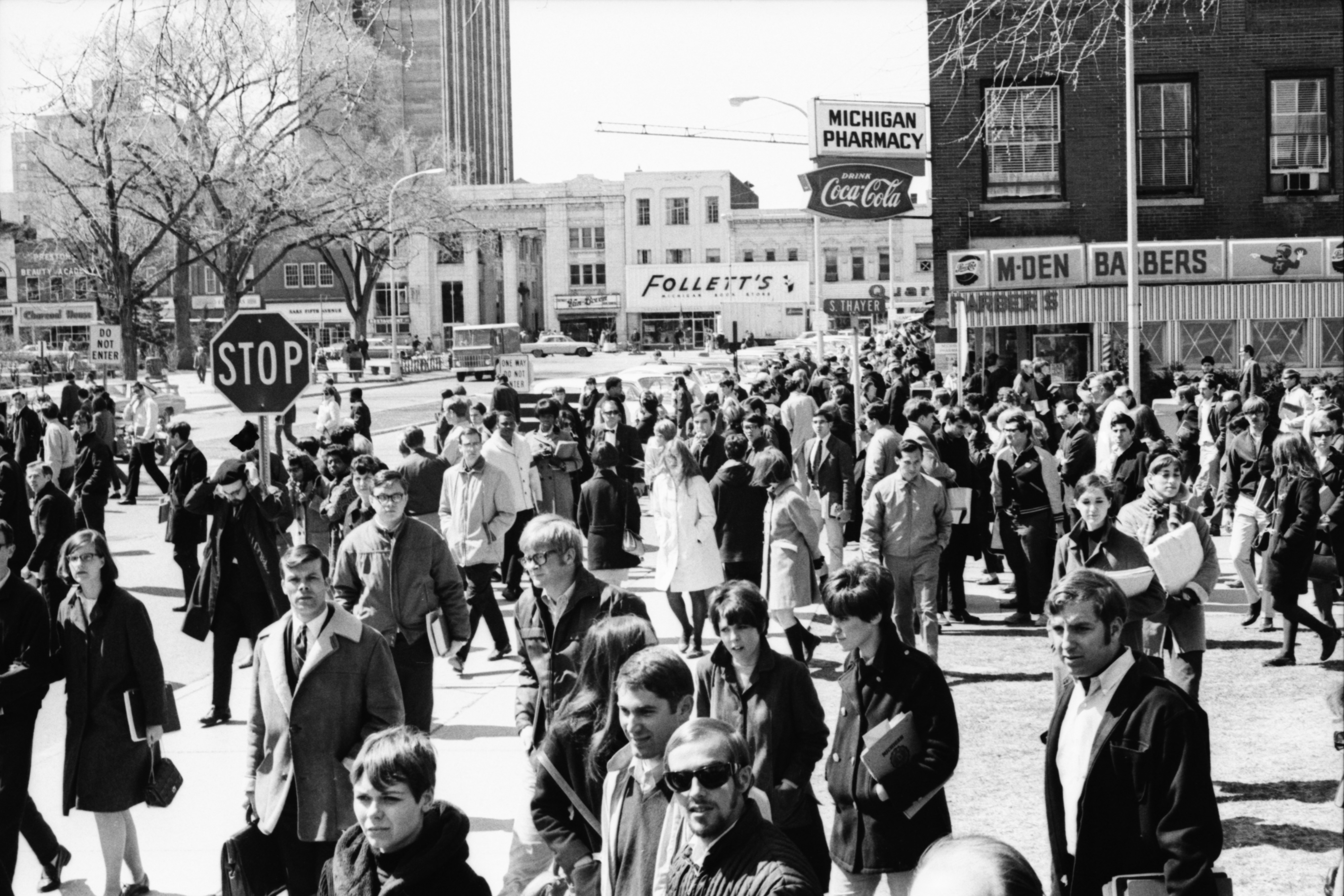 Crowd, Martin Luther King Jr Funeral, April 1968 image