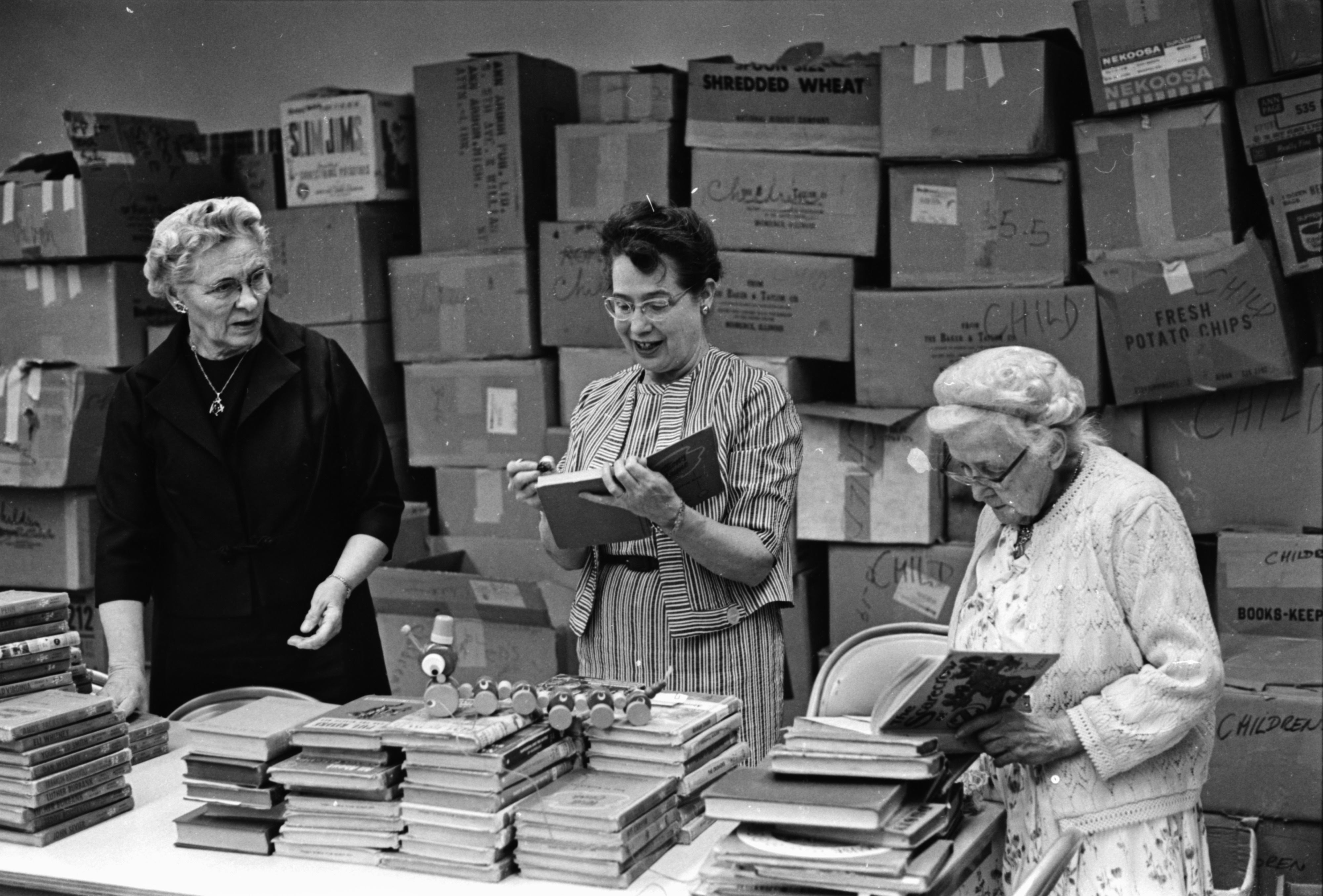 Working On May Book Fair, May 1968 image
