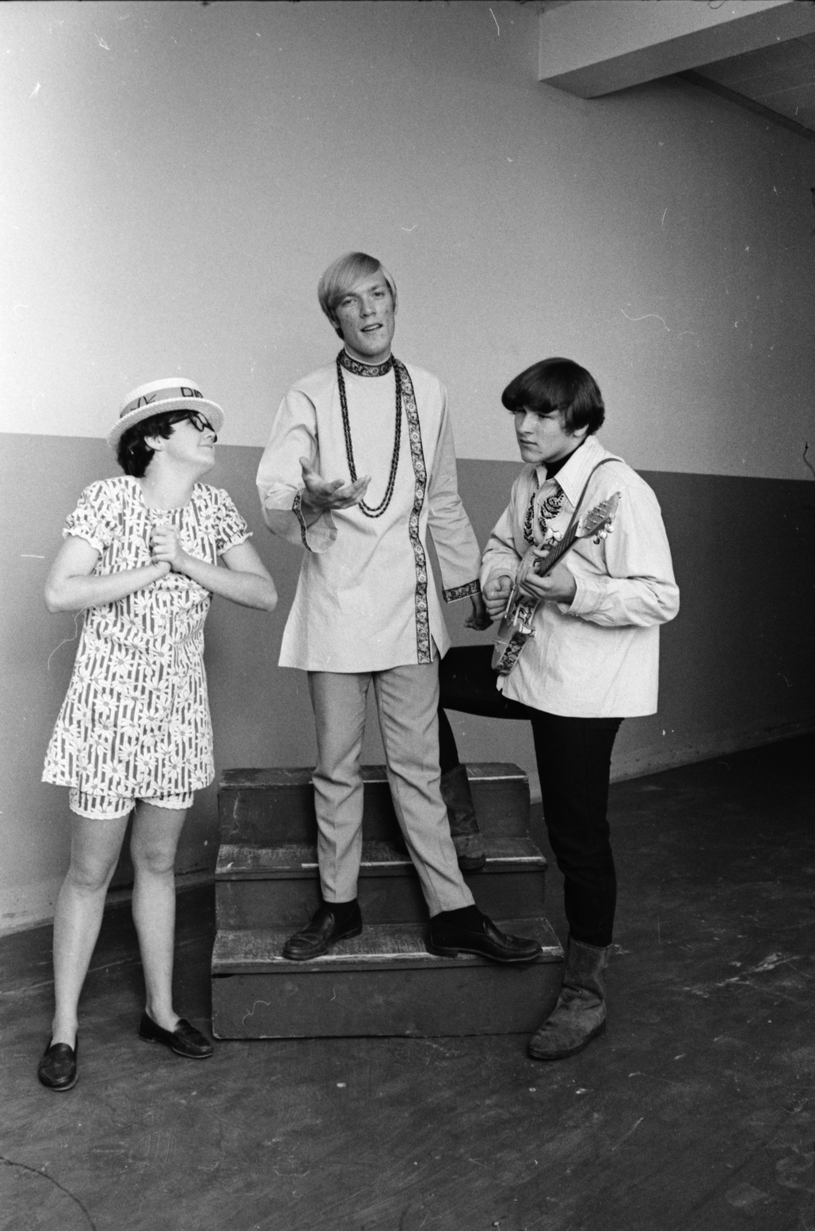 "Members of the Ann Arbor Recreation Department's Summer Music Theater production of ""Bye Bye Birdie,"" July, 1968 image"