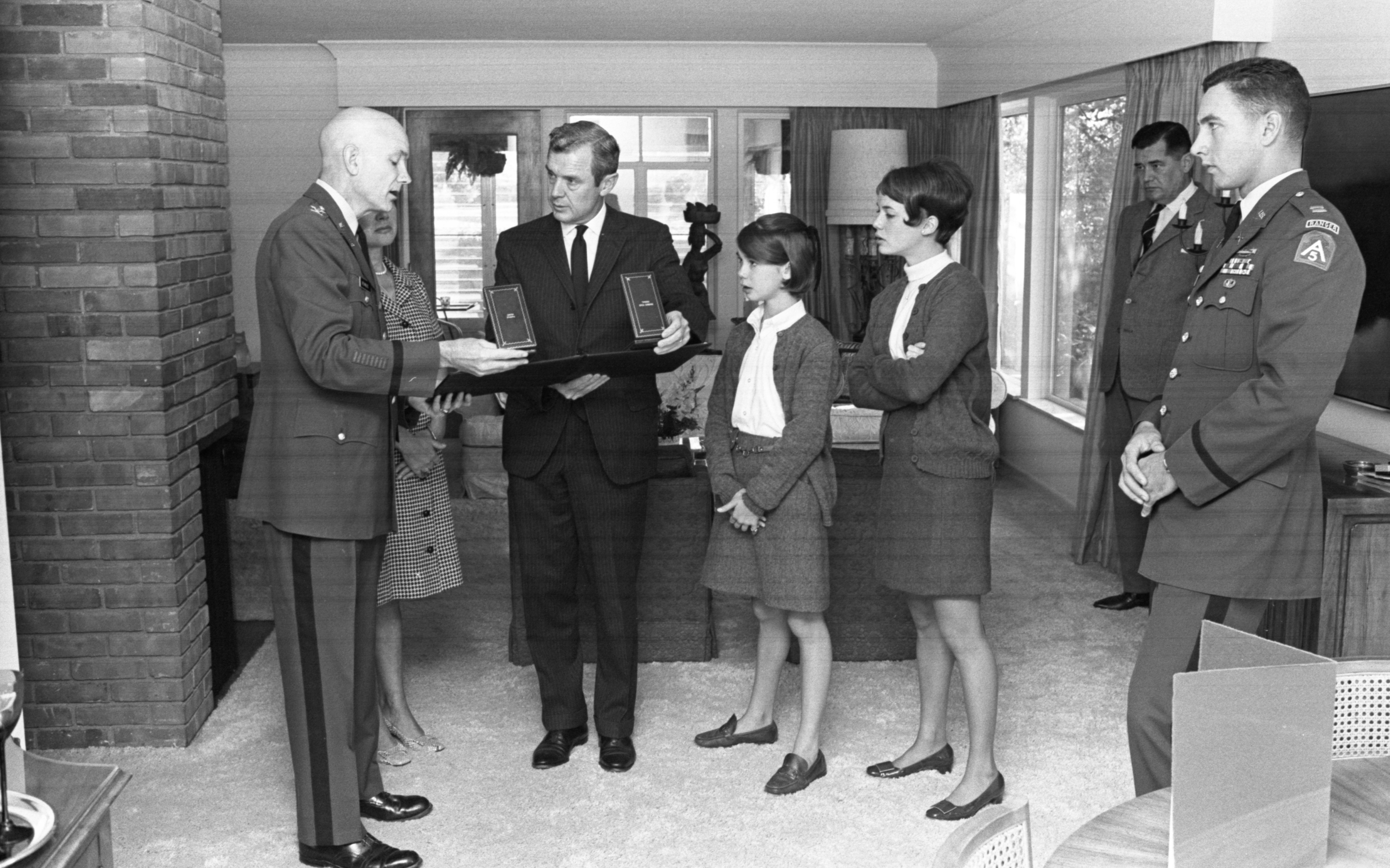 Seven Medals Earned By George V. Airey Jr. Are Presented To His Family, October 1968 image