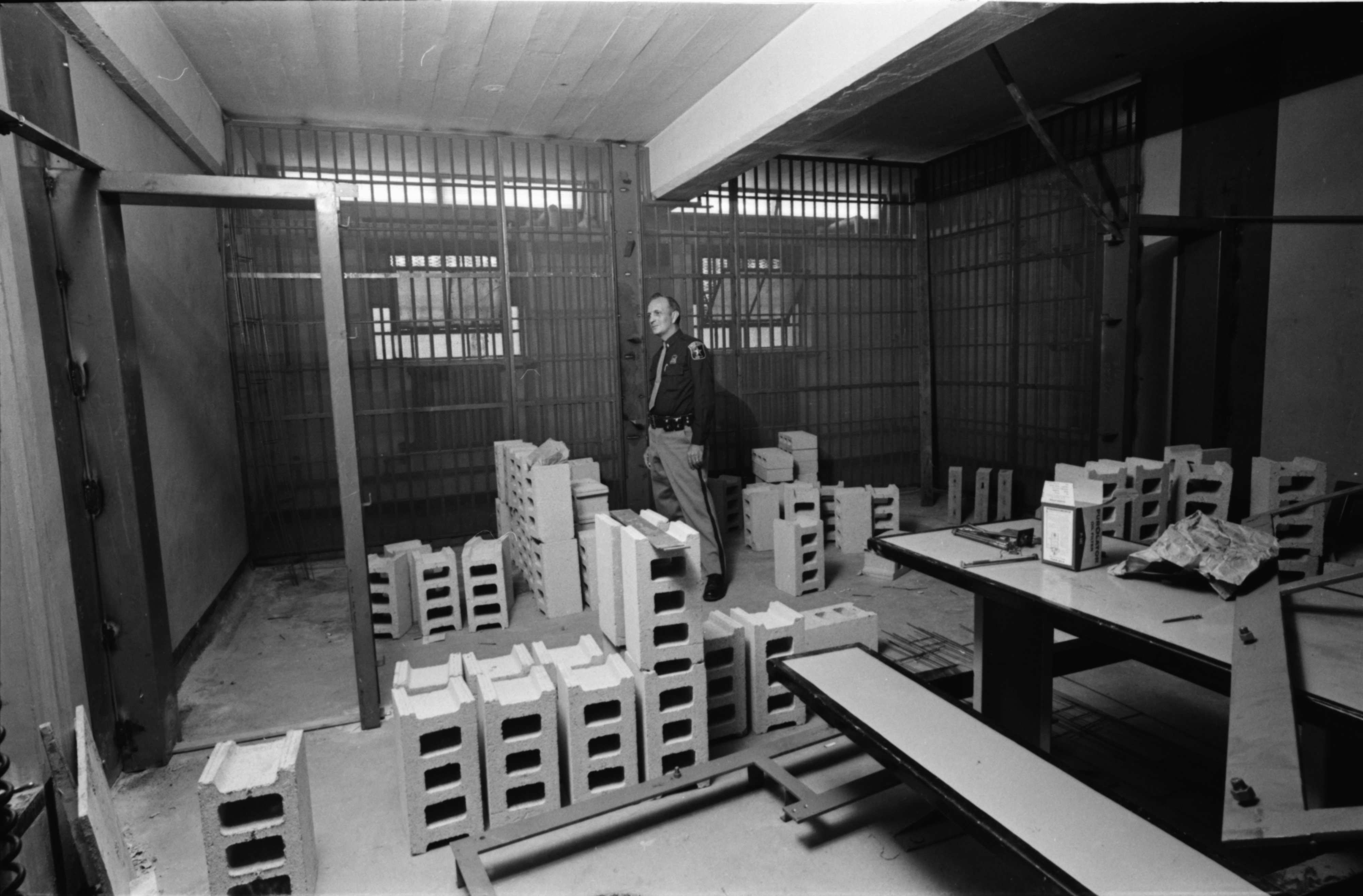 New Cells at County Jail, October 1968 image