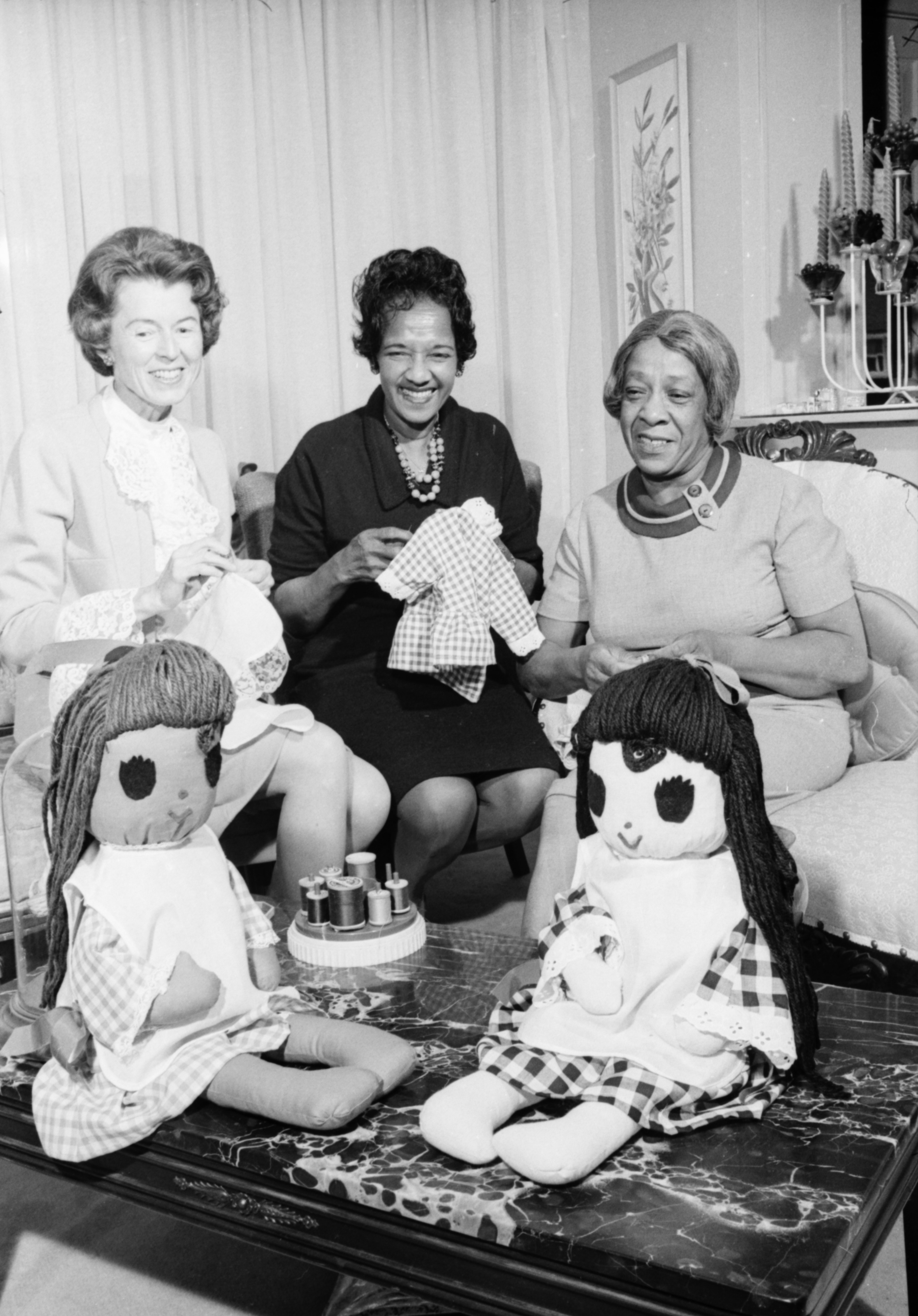 Women of Bethel Toy Club Sew Dolls, October 1968 image
