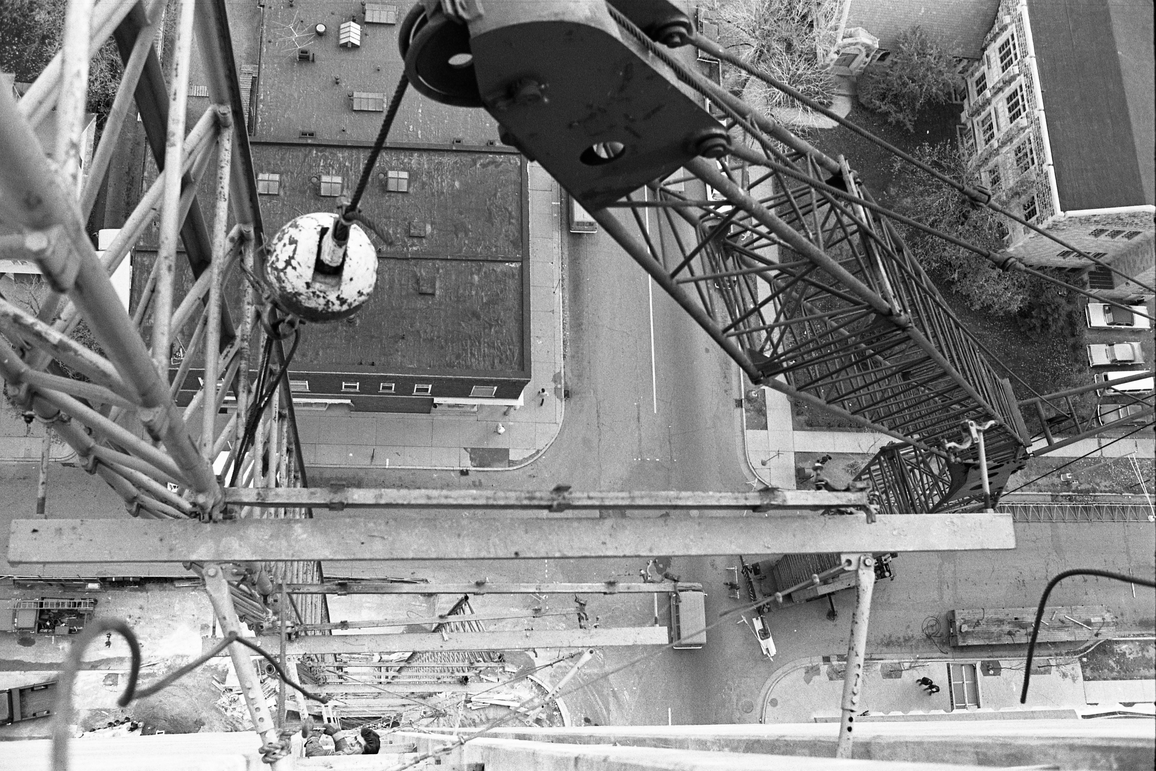 View From Tower Plaza Roof Of Construction Crane & William Street Running Vertically, November 9, 1968 image