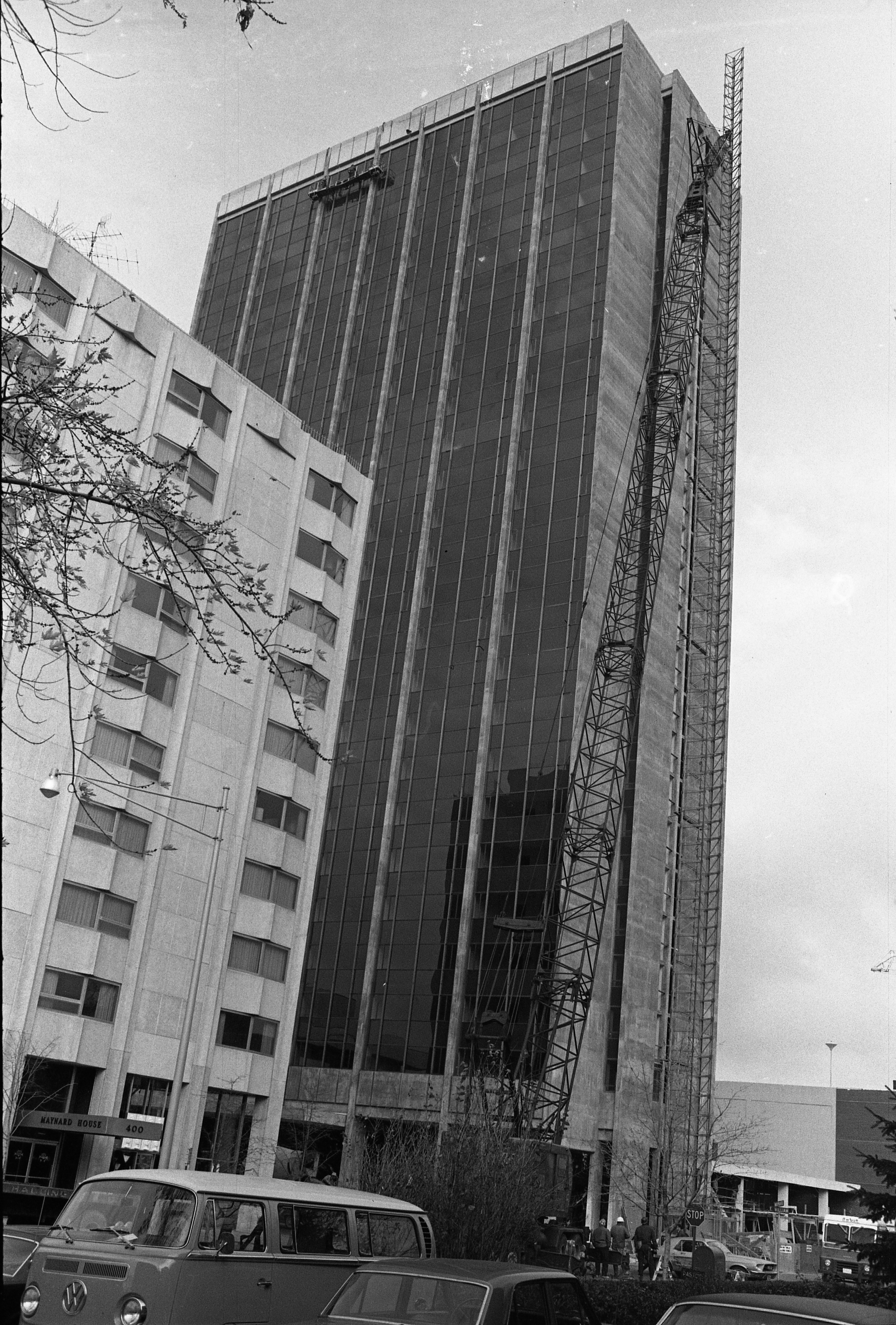 Construction Crane On Side Of Tower Plaza, November 1968 image