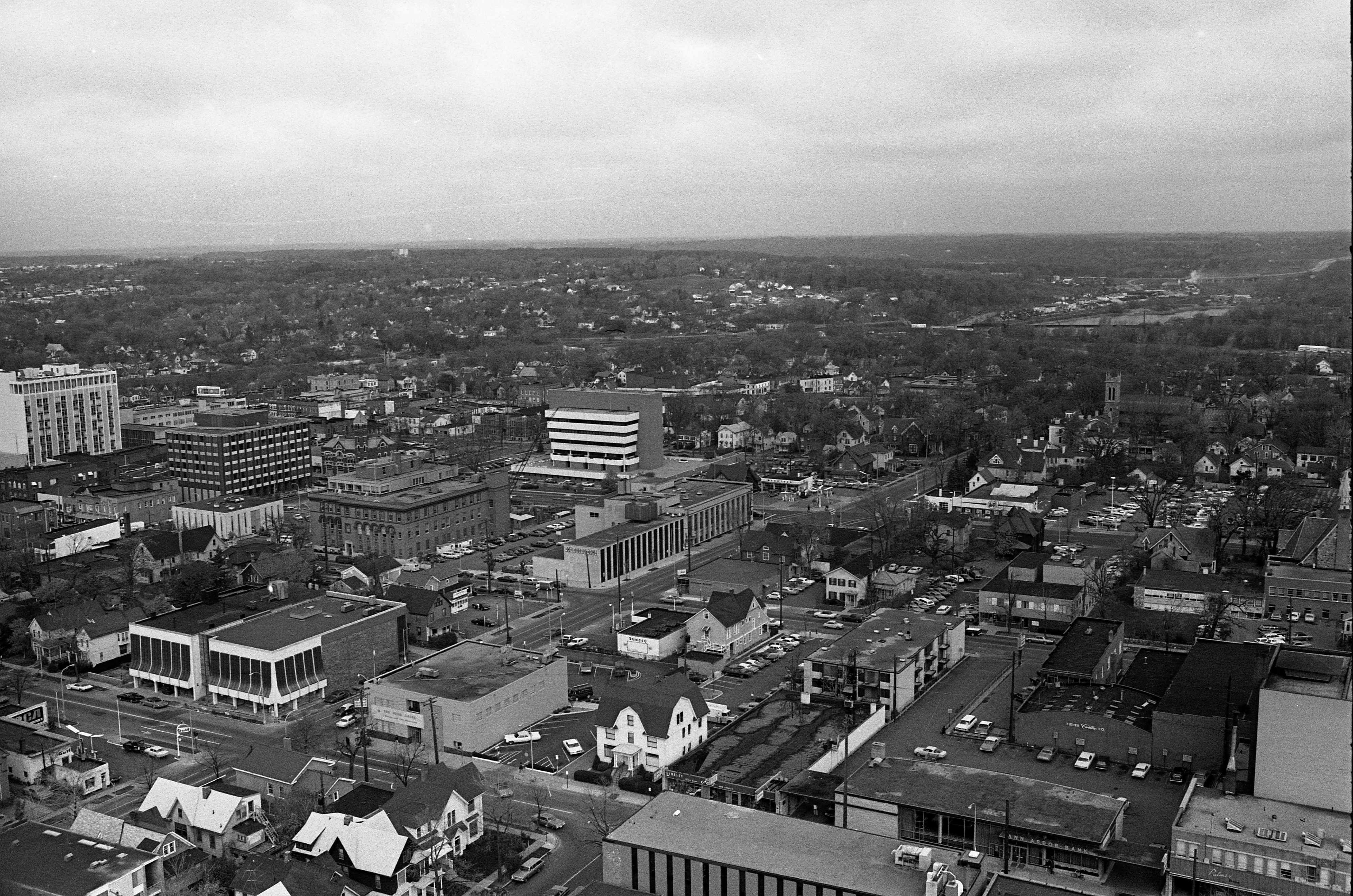 Aerial View From Roof Of Tower Plaza, November 1968 image