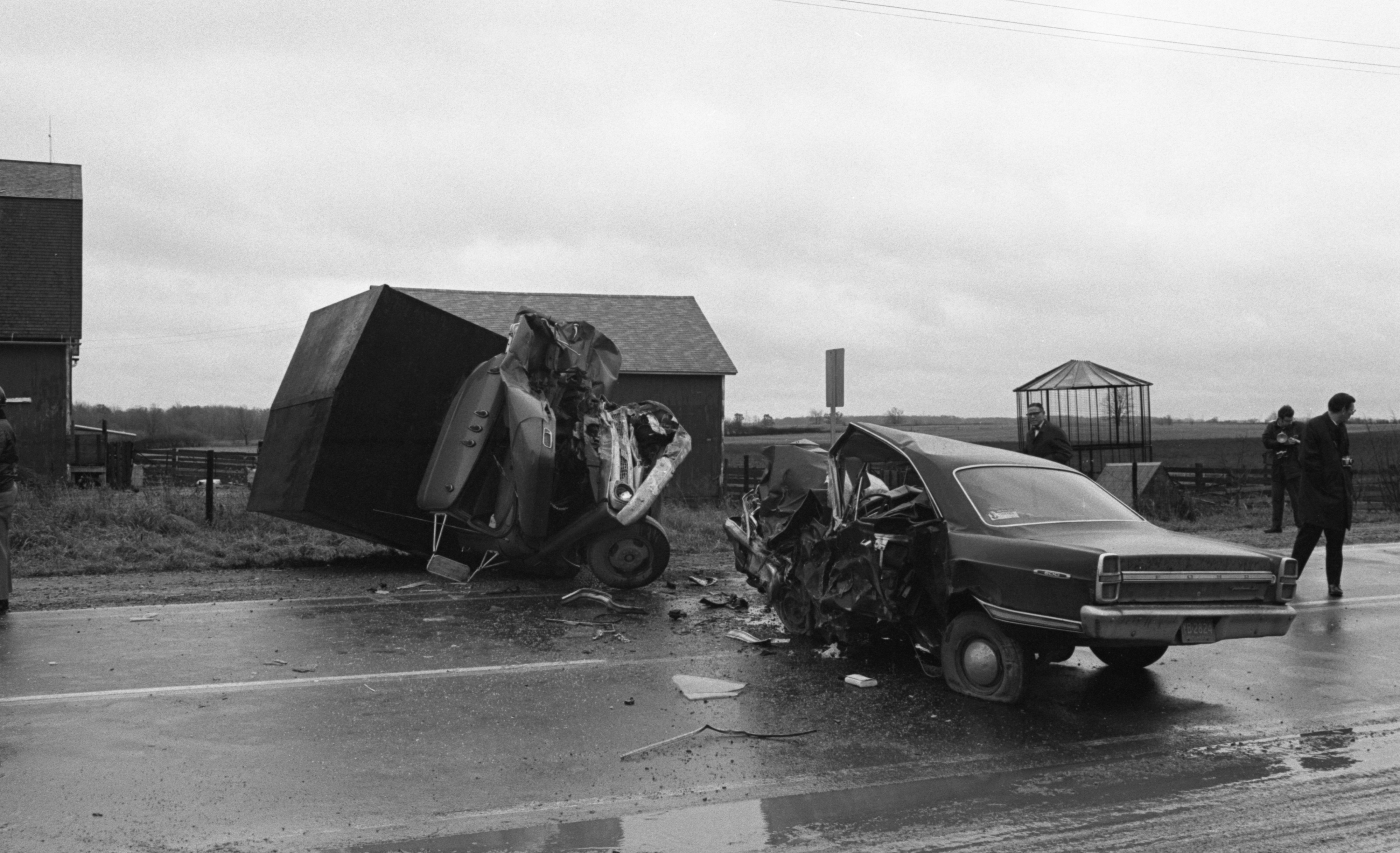 US-12 Accident Scene Where Garry Rathke Was Killed, November 1968 image