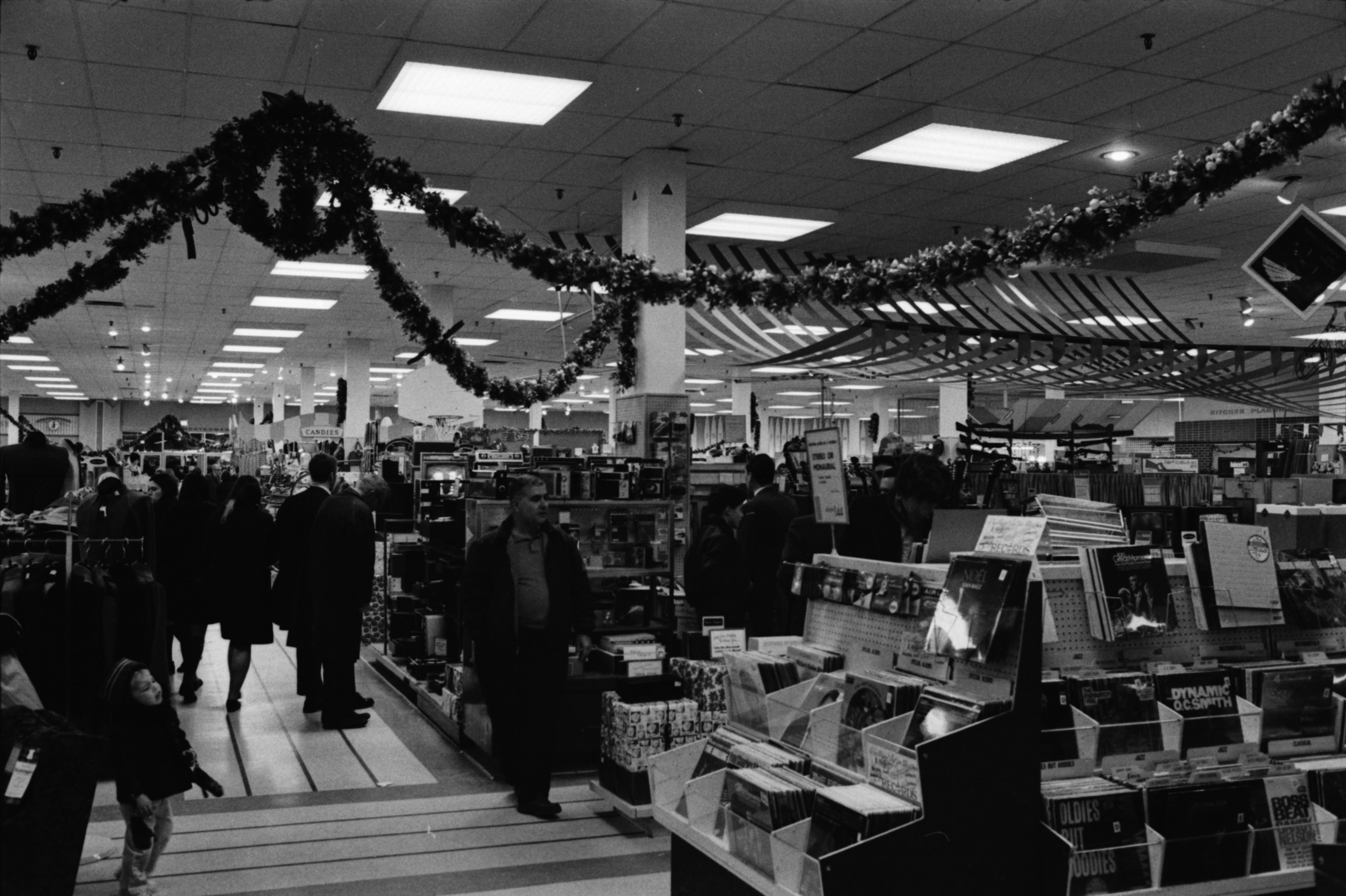 Christmas Shopping Crowds at Montgomery Ward's in Arborland, December 1968 image
