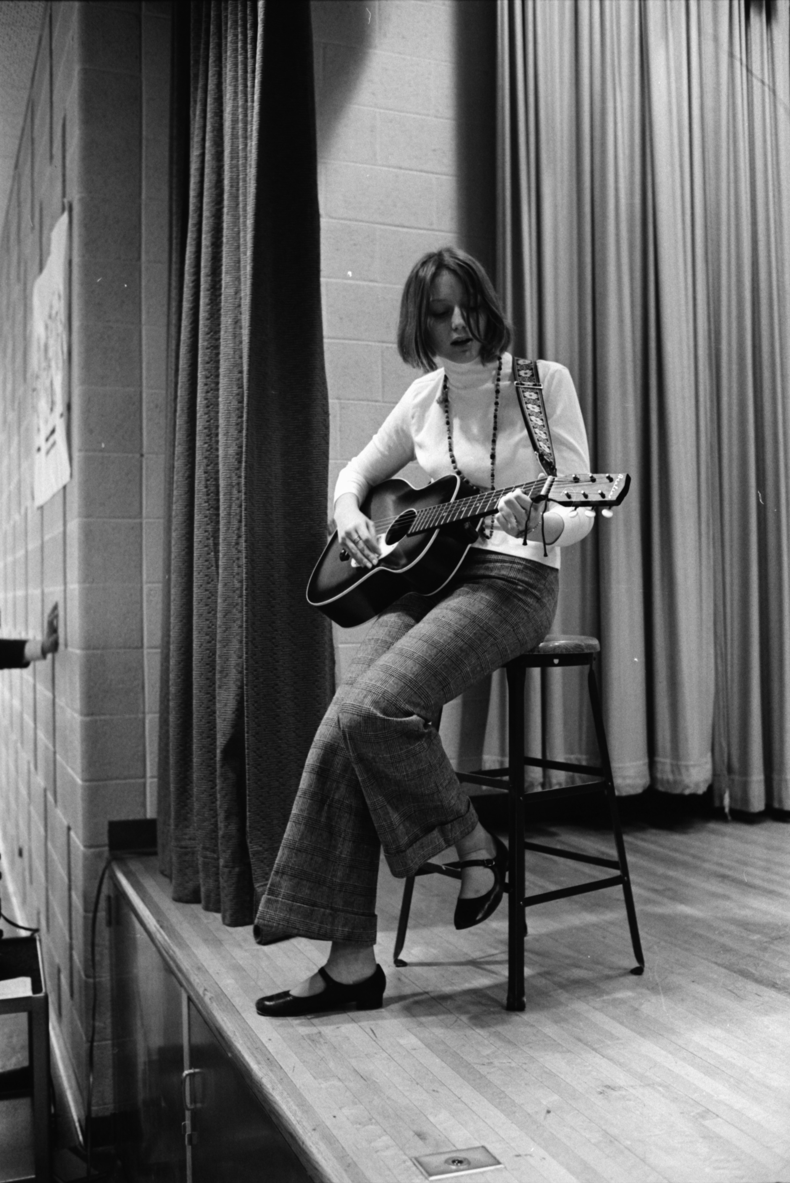 Guitarist at Forsythe Junior High School's Talent Show, January 1969 image