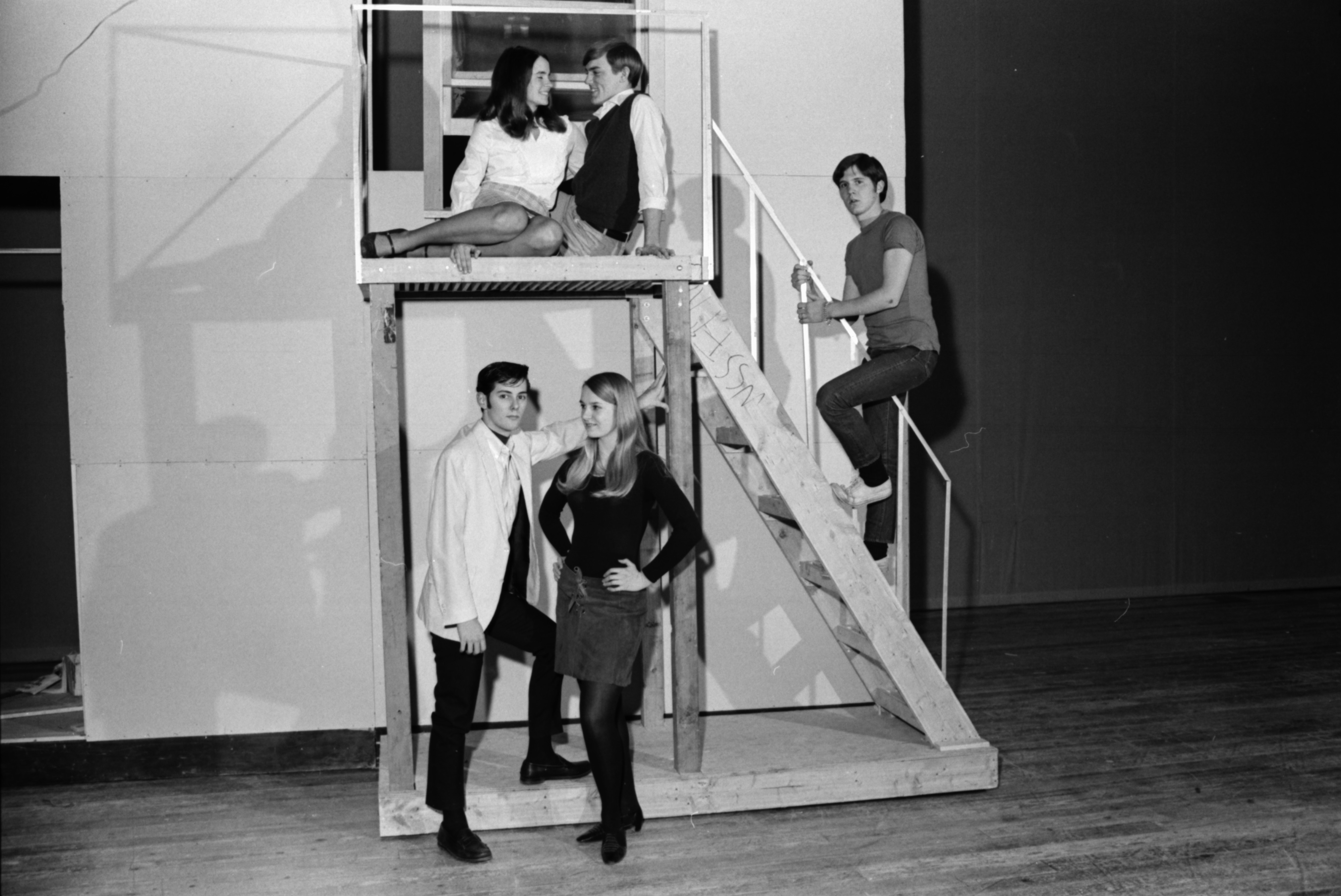 "Rehearsals for ""West Side Story"" at Pioneer High School, January 1969 image"