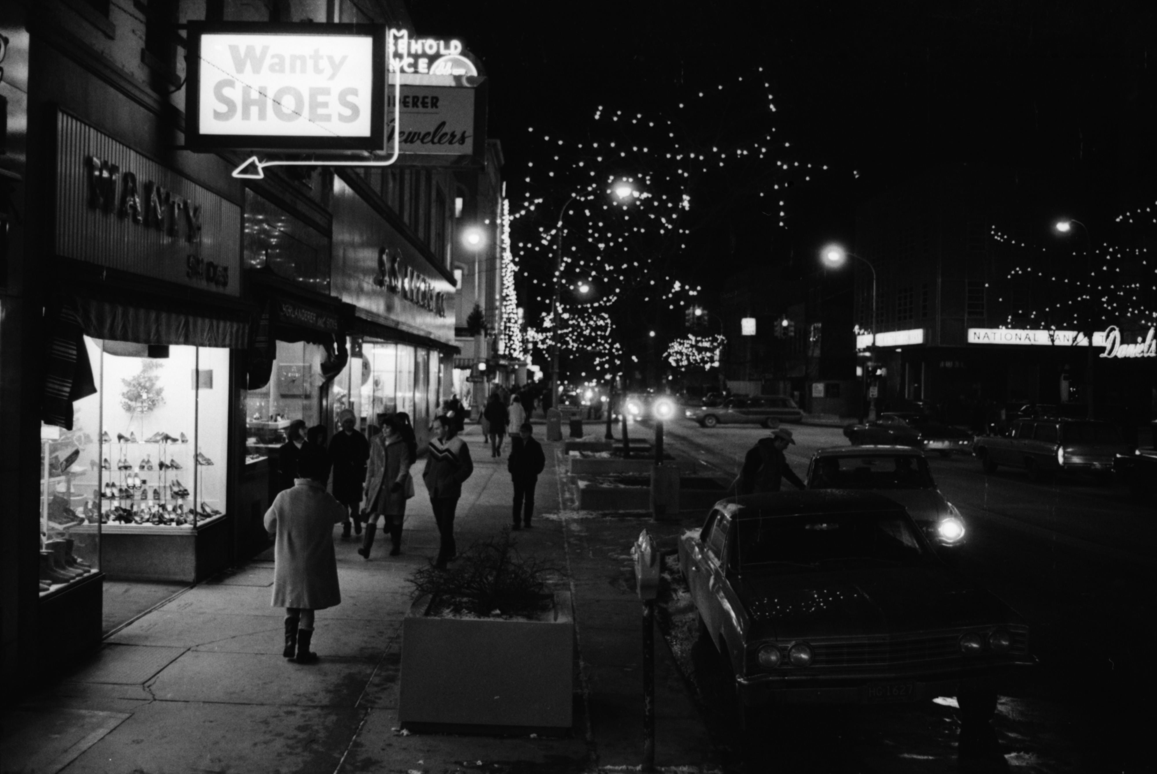 Midnight Madness in Downtown Ann Arbor, Main Street, December 1968 image