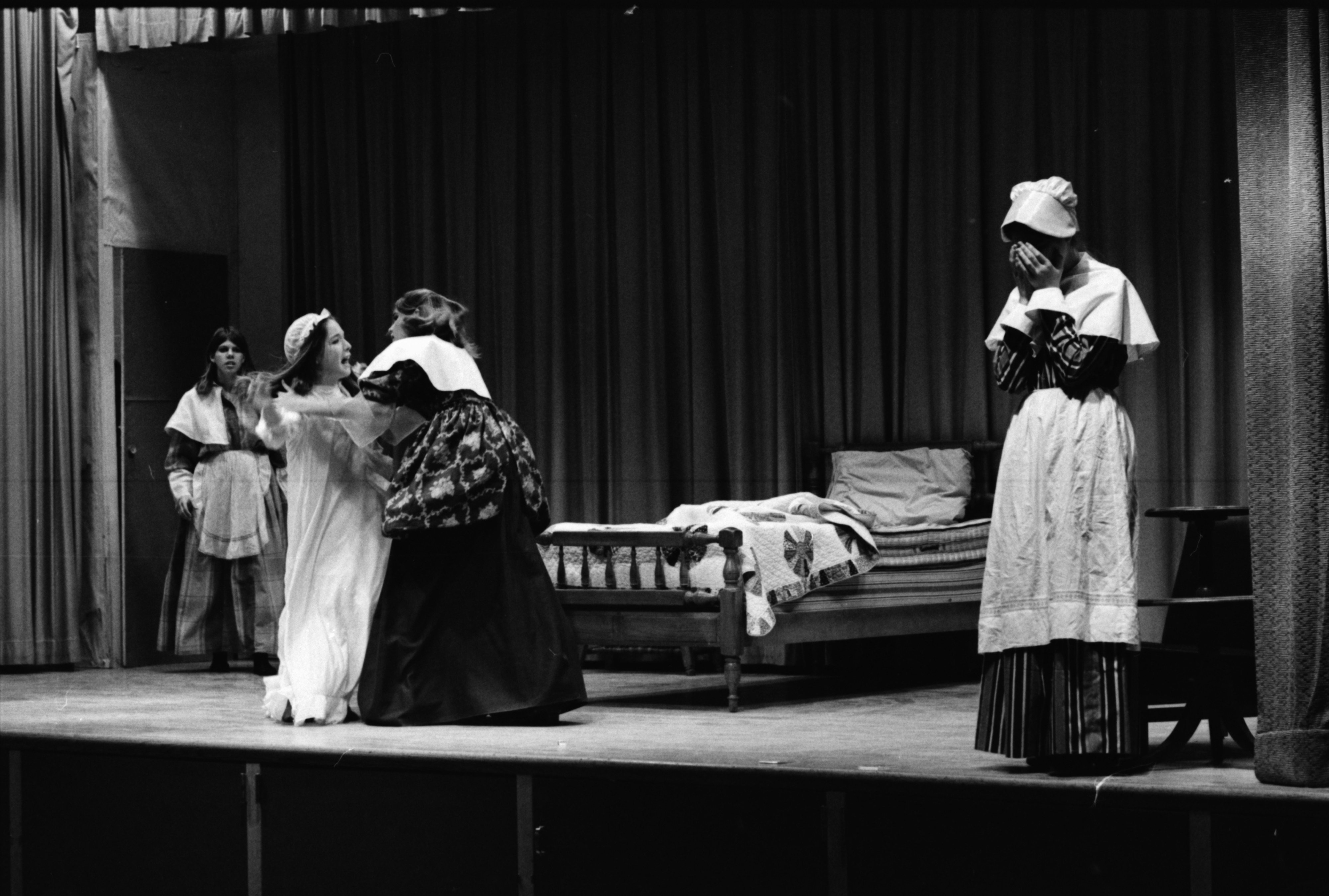 "Forsythe Junior High Students Rehearse ""The Crucible,"" December 1968 image"