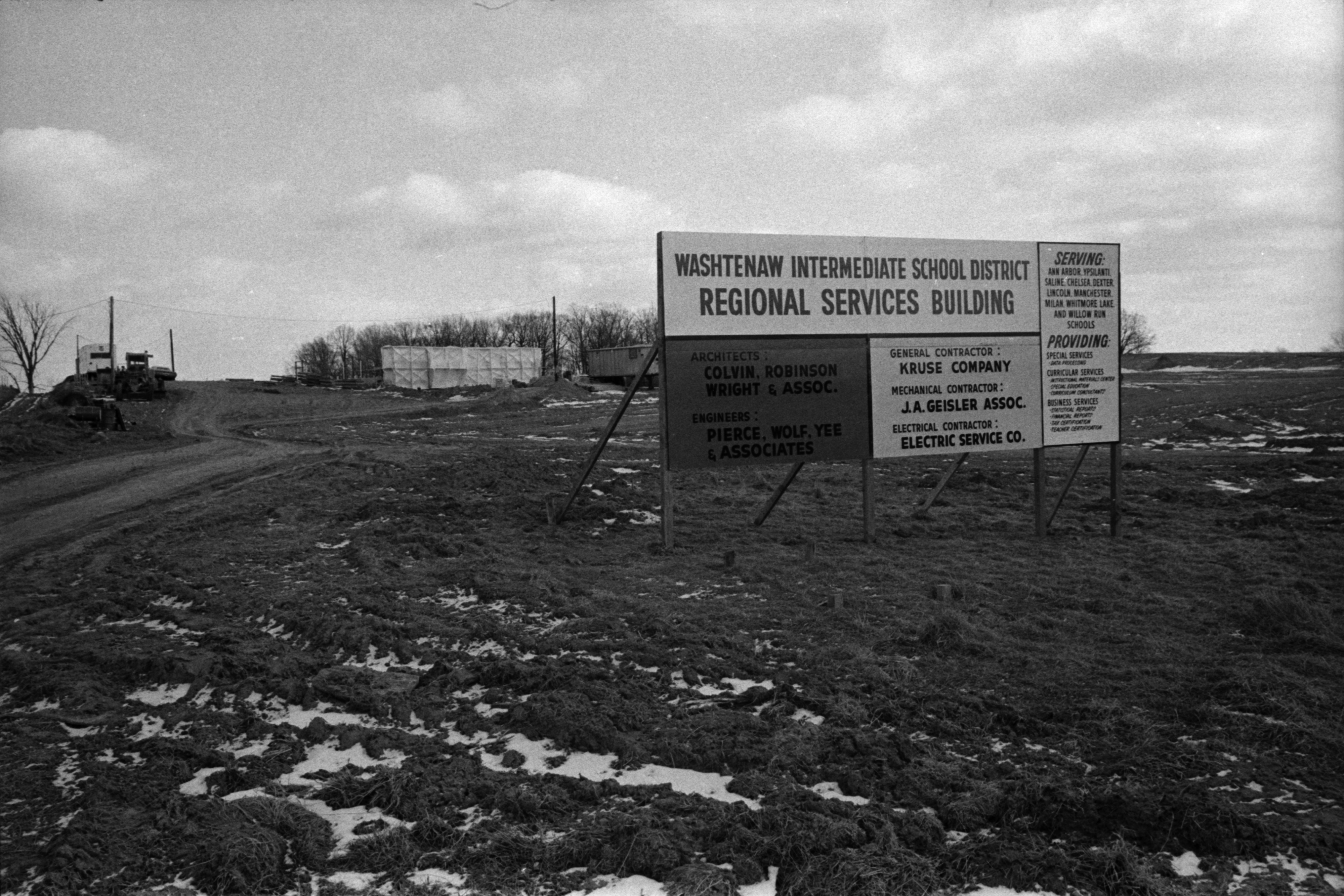 Construction of Washtenaw Intermediate School District's Administrative Service Building, February 1969 image