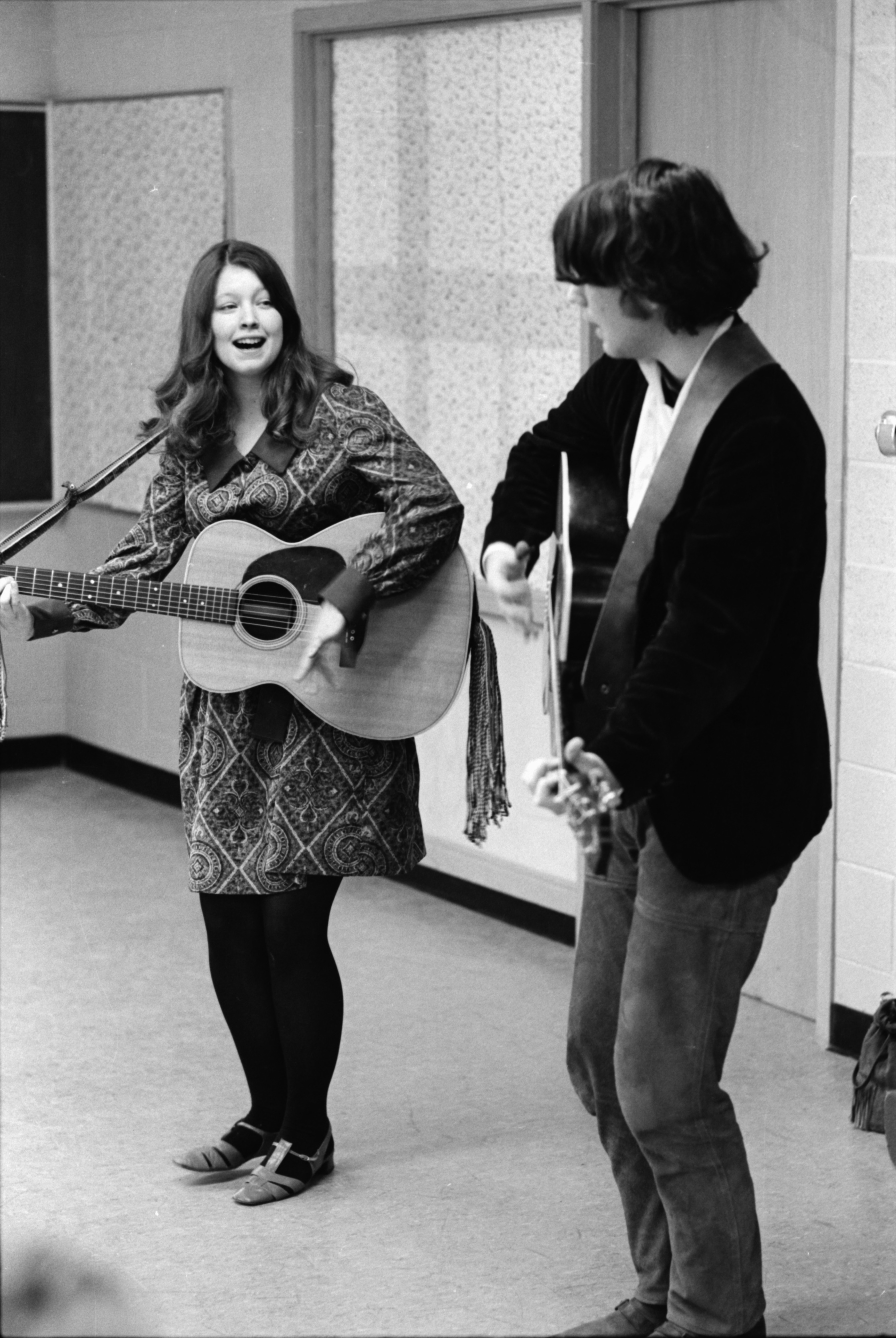 "Folk-Singing Duo ""Christopher and Sara,"" February 1969 image"