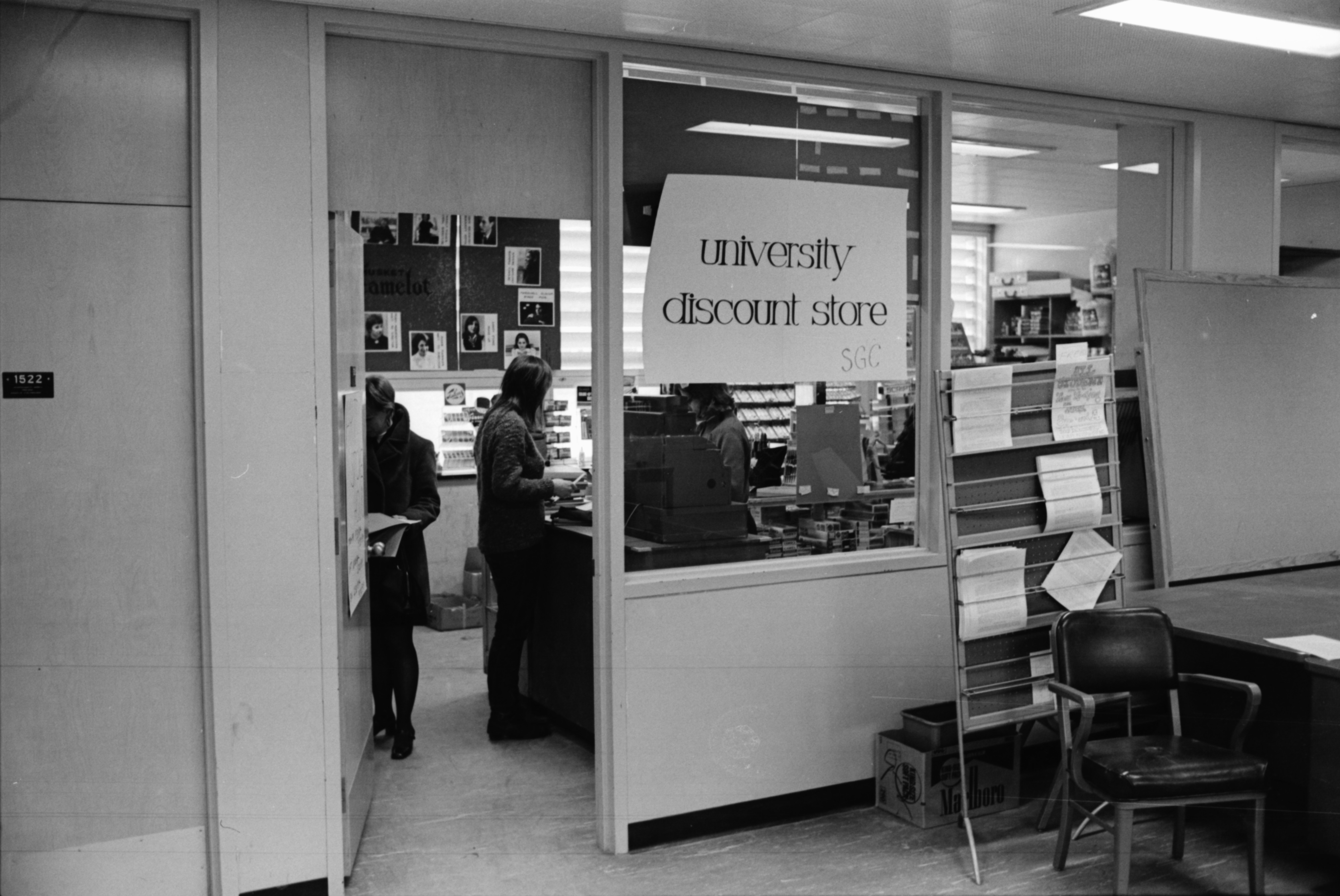 Student Discount Store in Student Activities Building, February 1969 image