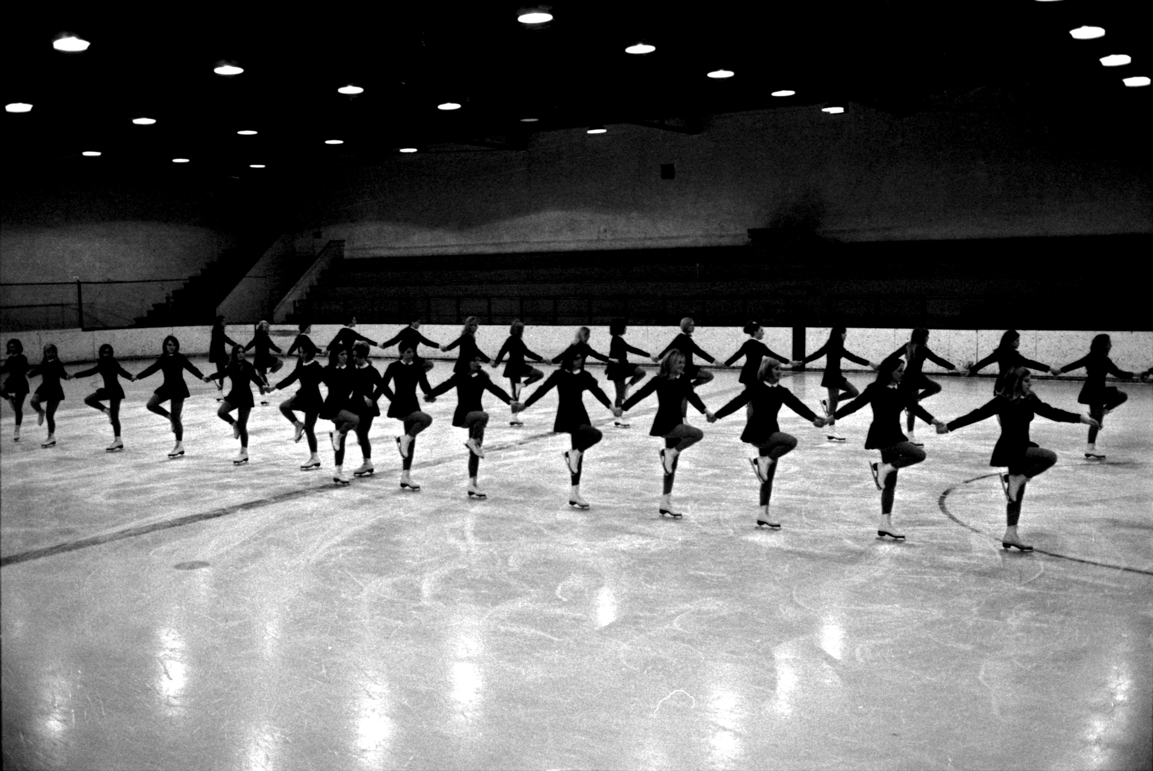 Rehearsal Of Ann Arbor Figure Skating Club Hockettes, February 1969 image