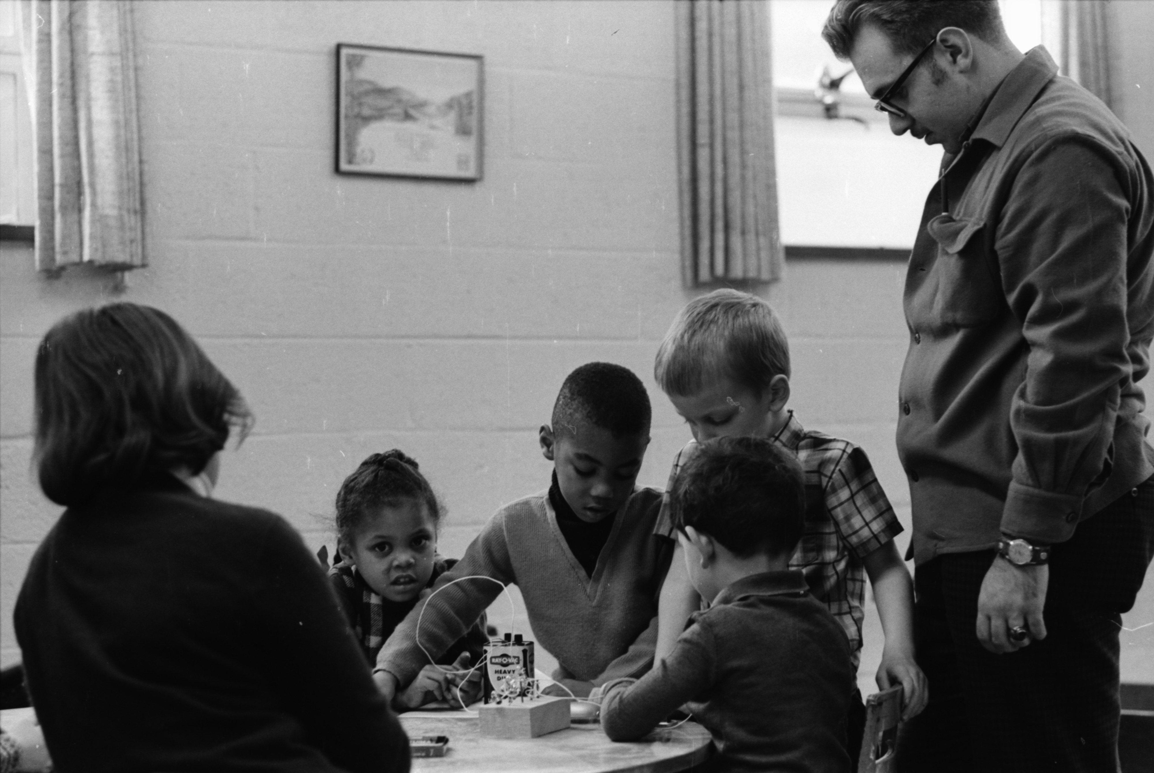 University Student James Buscetta Explains The Fundamentals Of Electrical Power To Preschoolers, February 1969 image