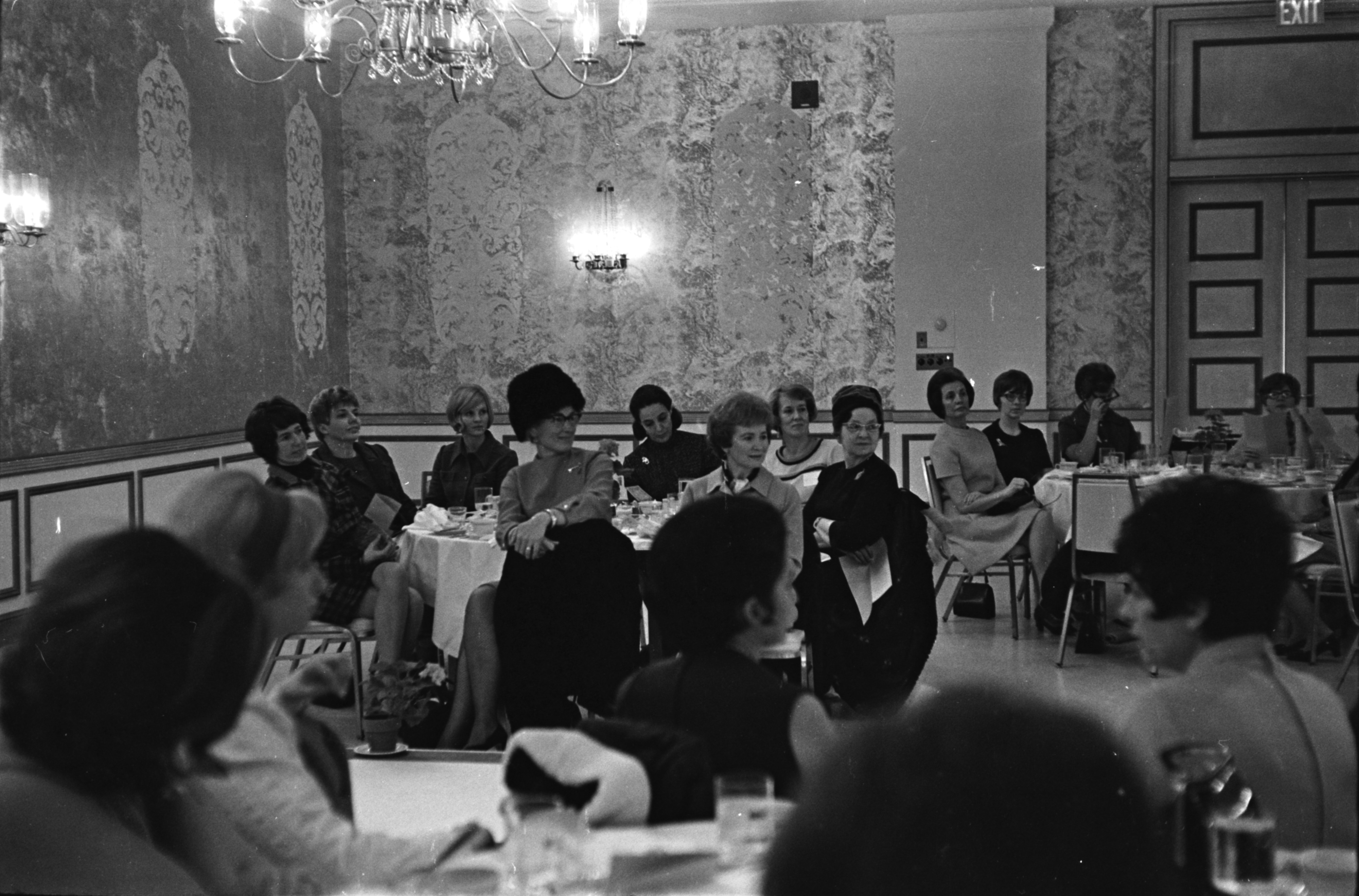Audience at the March of Dimes Fashion Show, February 1969 image