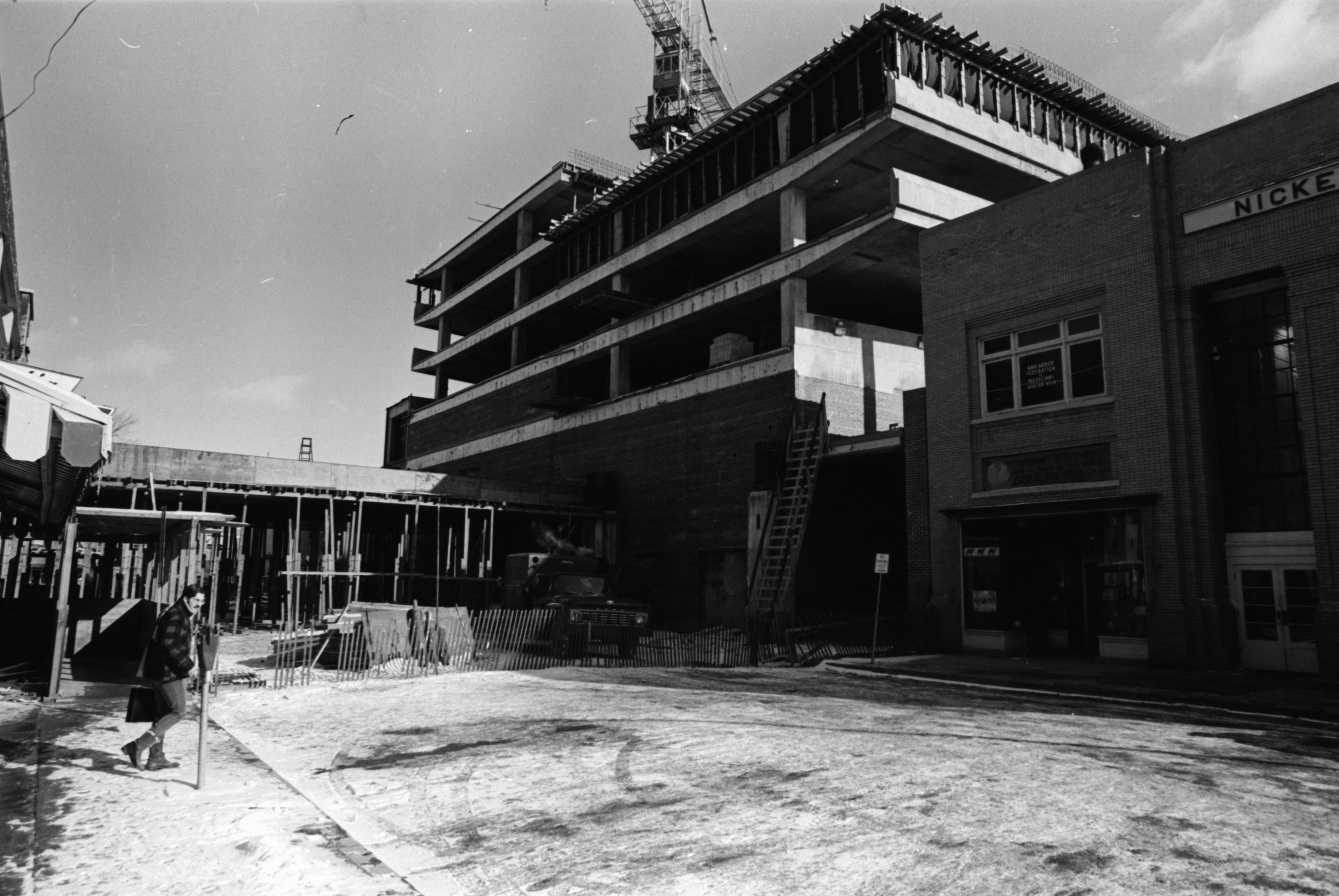 Construction of carport over Maynard Street, February 1969 image
