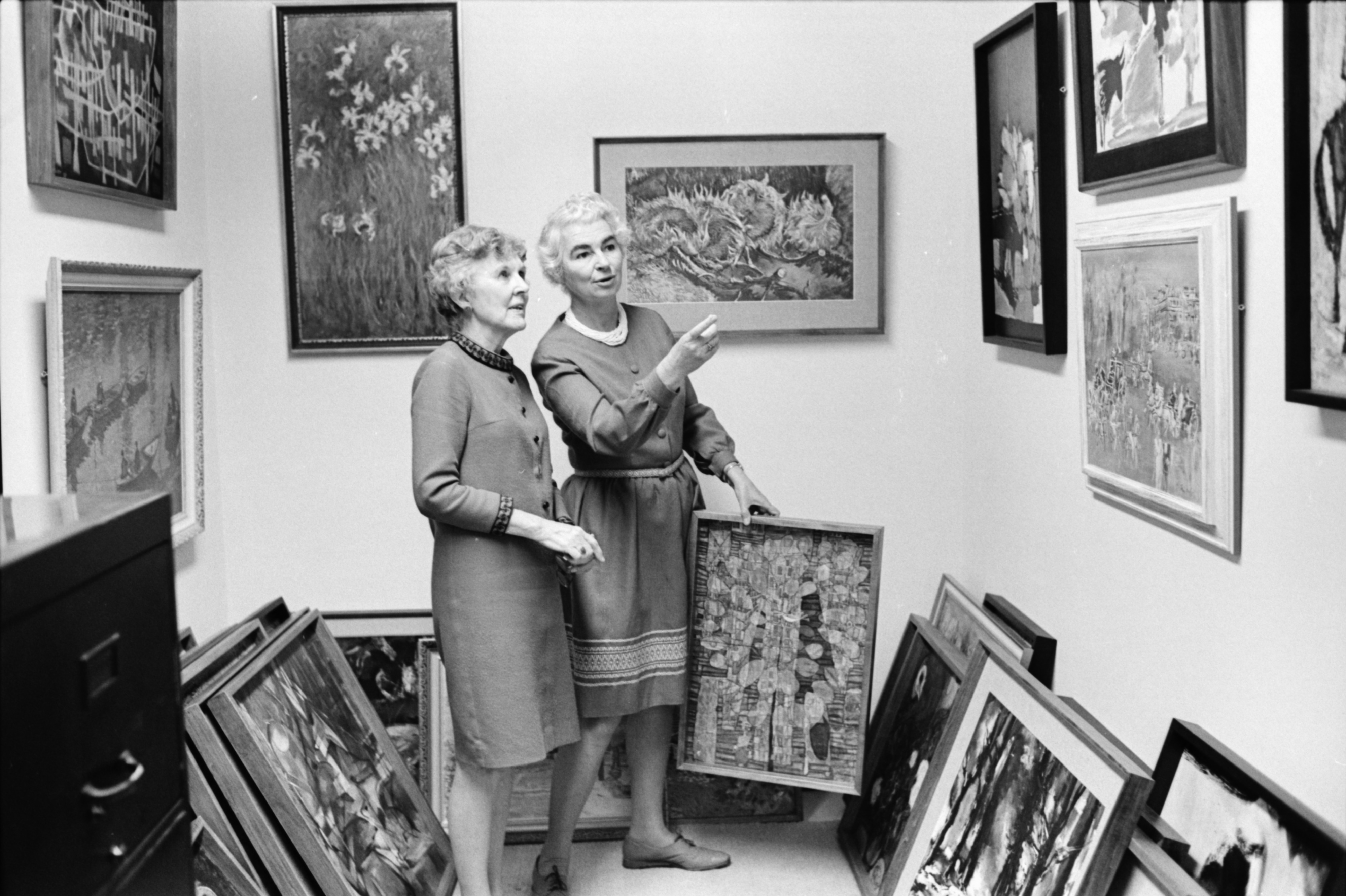 Marion Bader and Margaret Cameron Preview Art Print Collection, March 1969 image