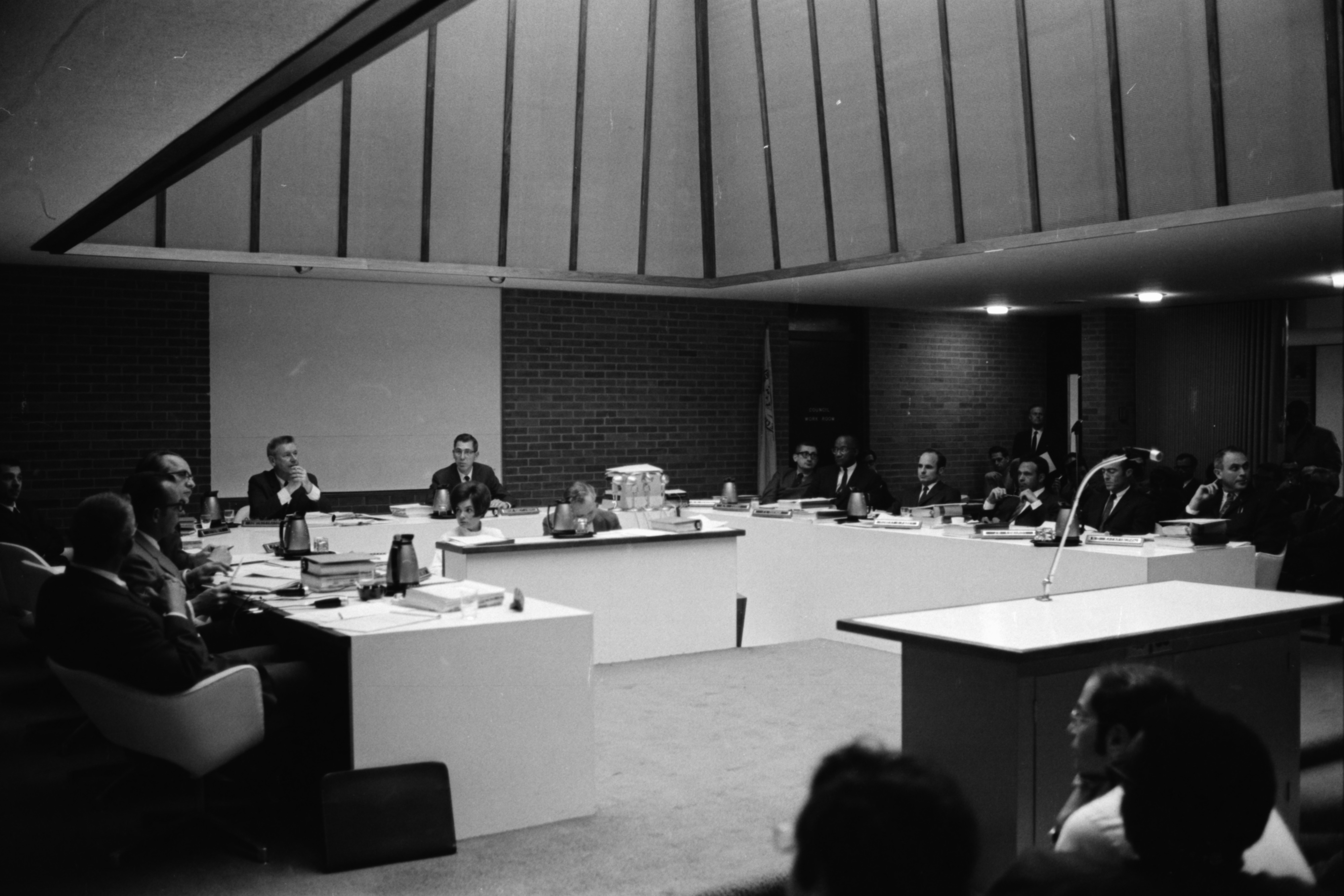 Ann Arbor's New City Council at Work, April 1969 image